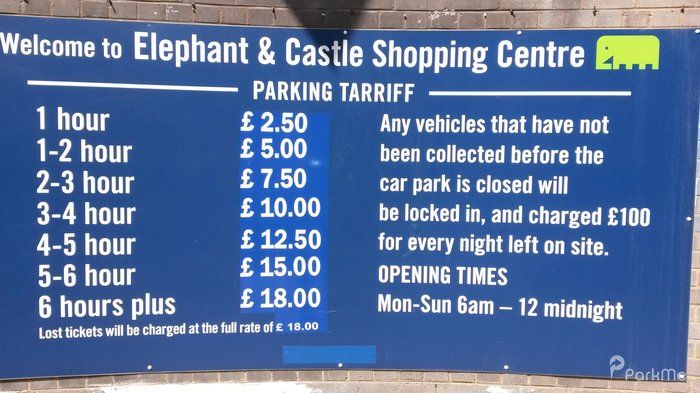 Elephant And Castle Shopping Centre Car Park