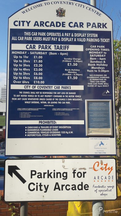 City Arcade Car Park - Parking in Coventry | ParkMe