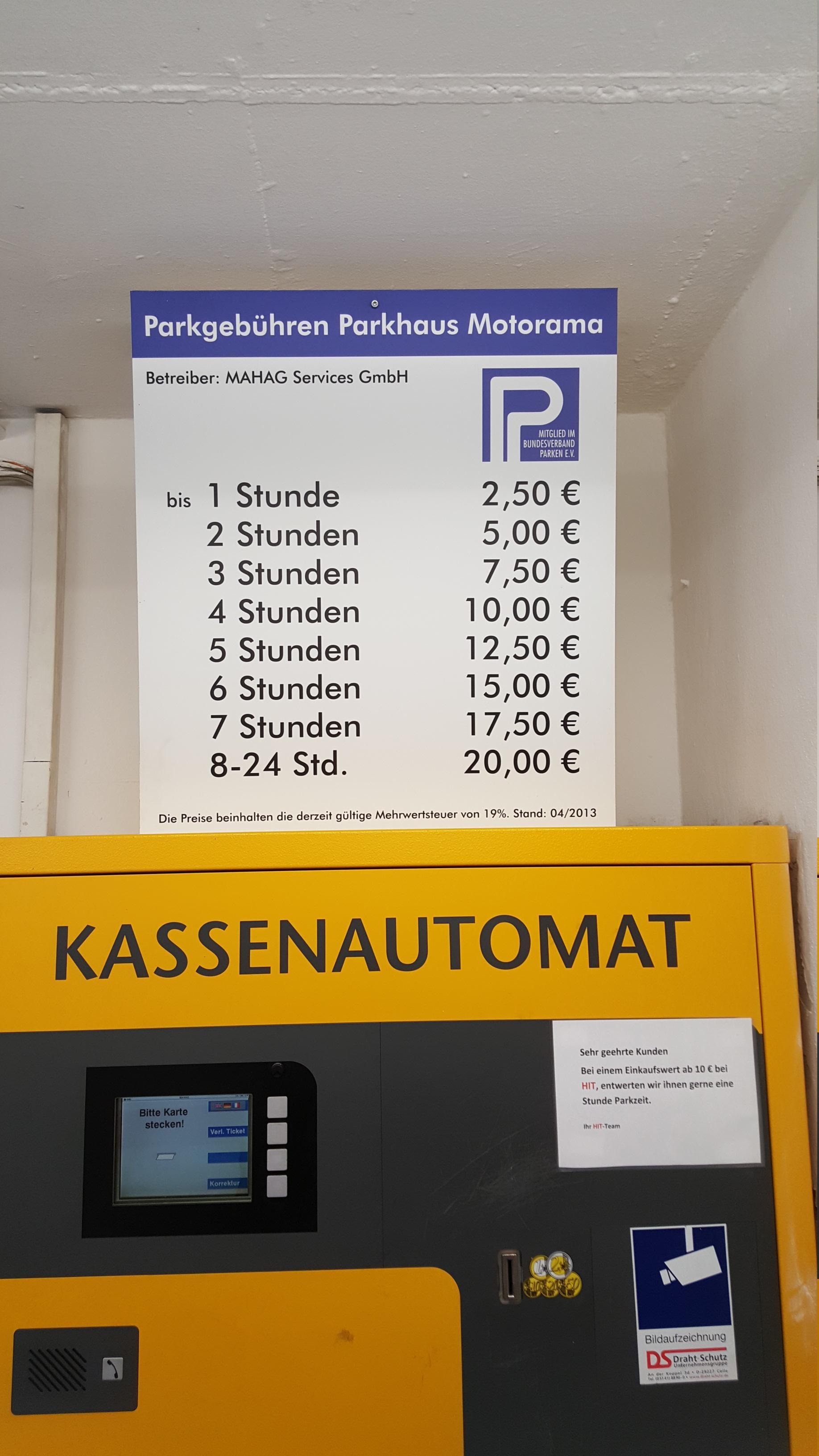 Parkhaus Motorama - Parking in München | ParkMe
