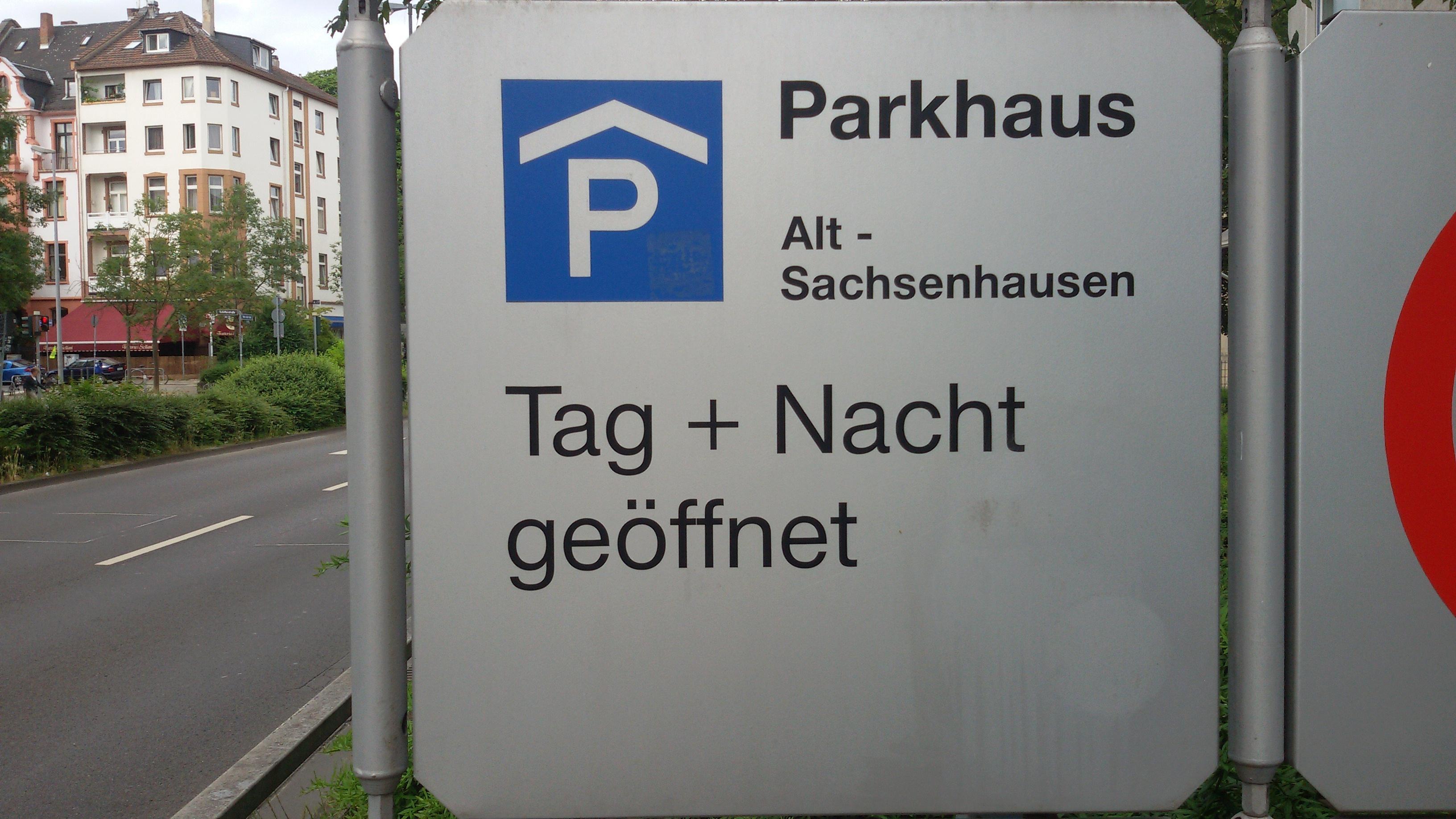 Parkhaus Alt Sachsenhausen Frankfurt