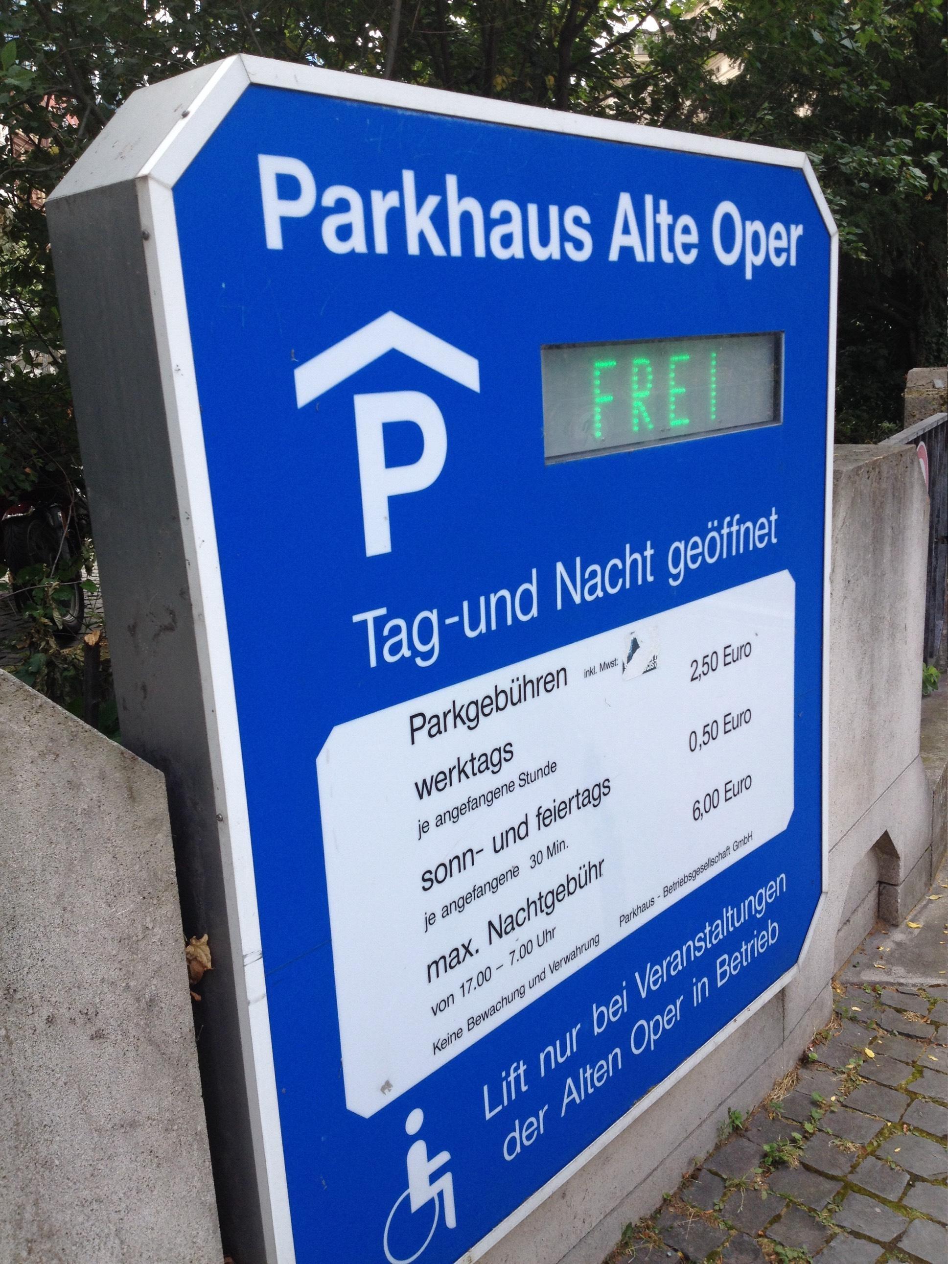 Frankfurt Parkhaus Alte Oper