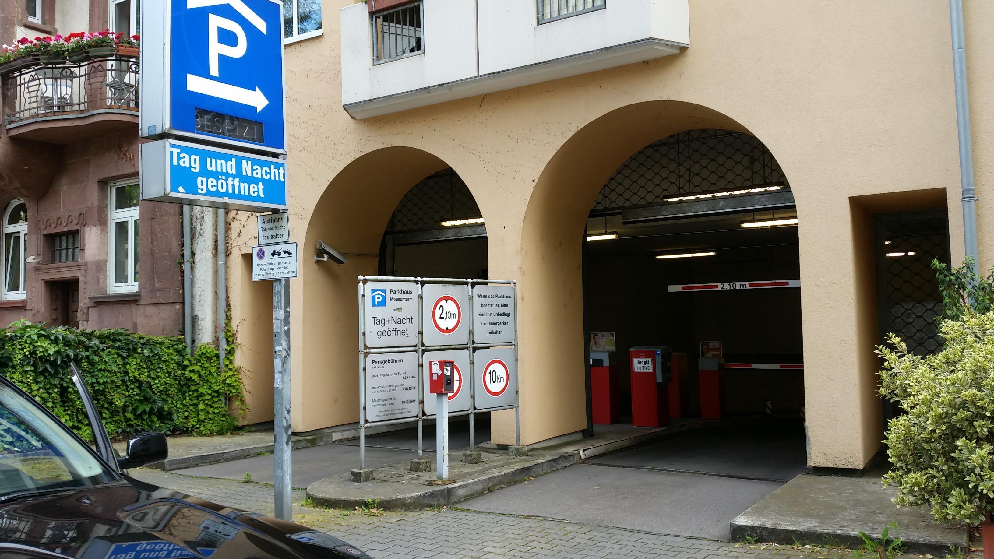 Preise Parkhaus Frankfurt