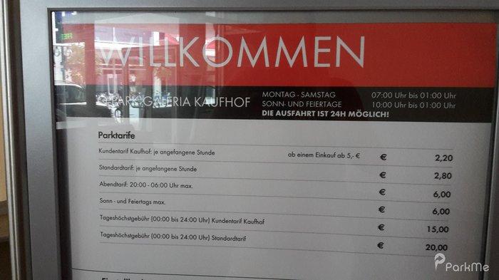 Galeria Kaufhof Parkplatz In Stuttgart Parkme