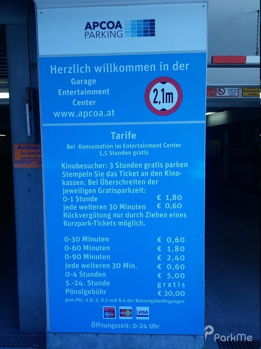 Gasometer City E Parking In Wien Parkme