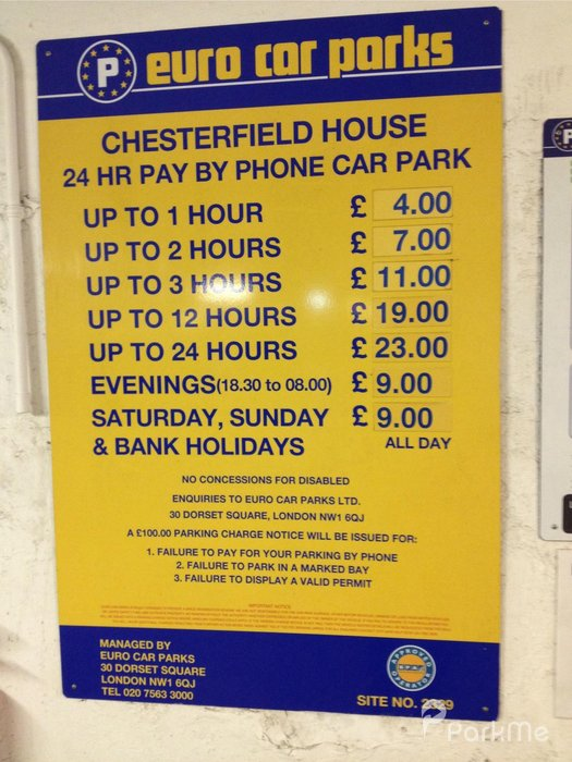 Chesterfield House Car Park Parking In London Parkme