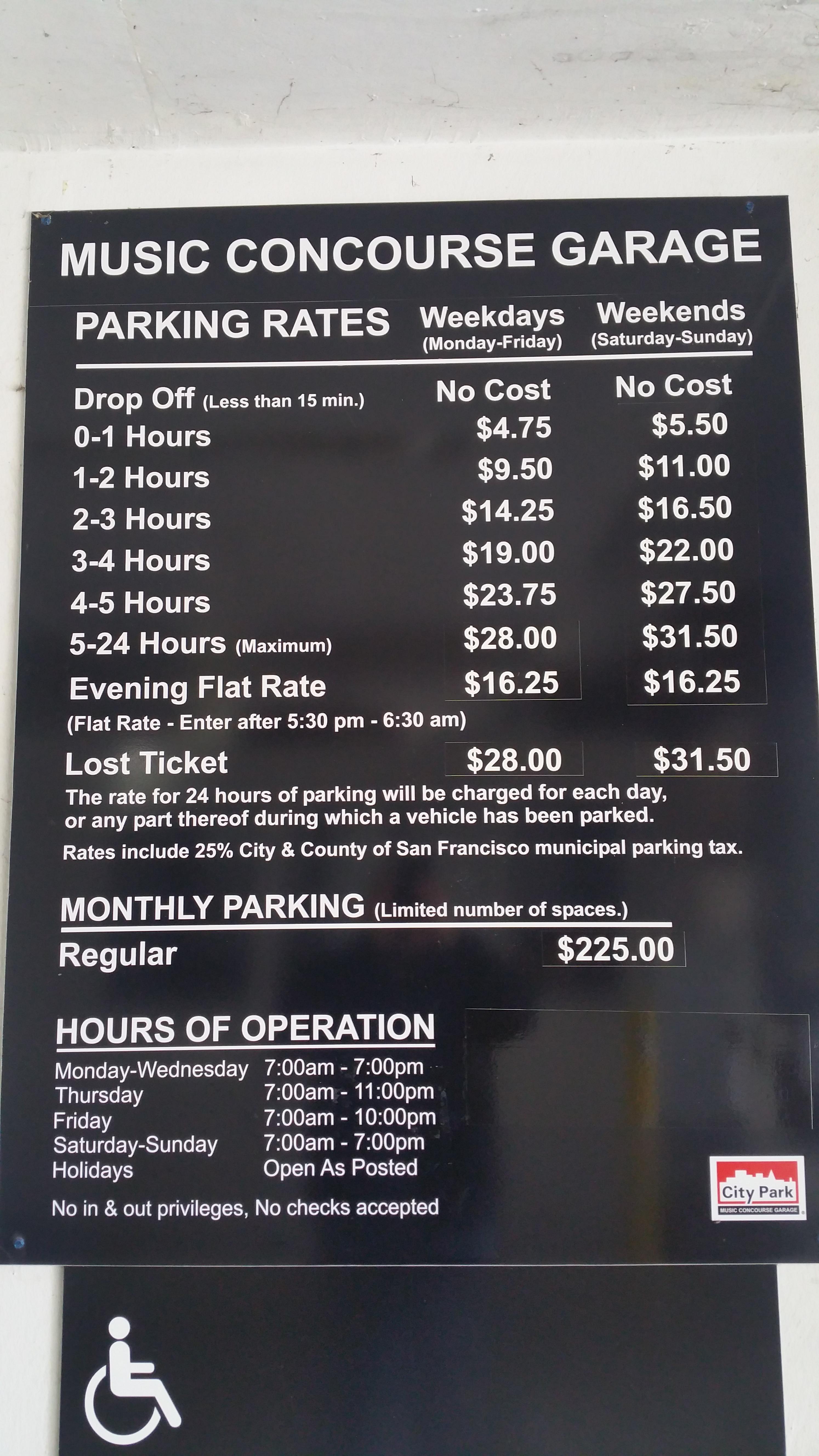 Music Concourse Garage - Parking in San Francisco | ParkMe