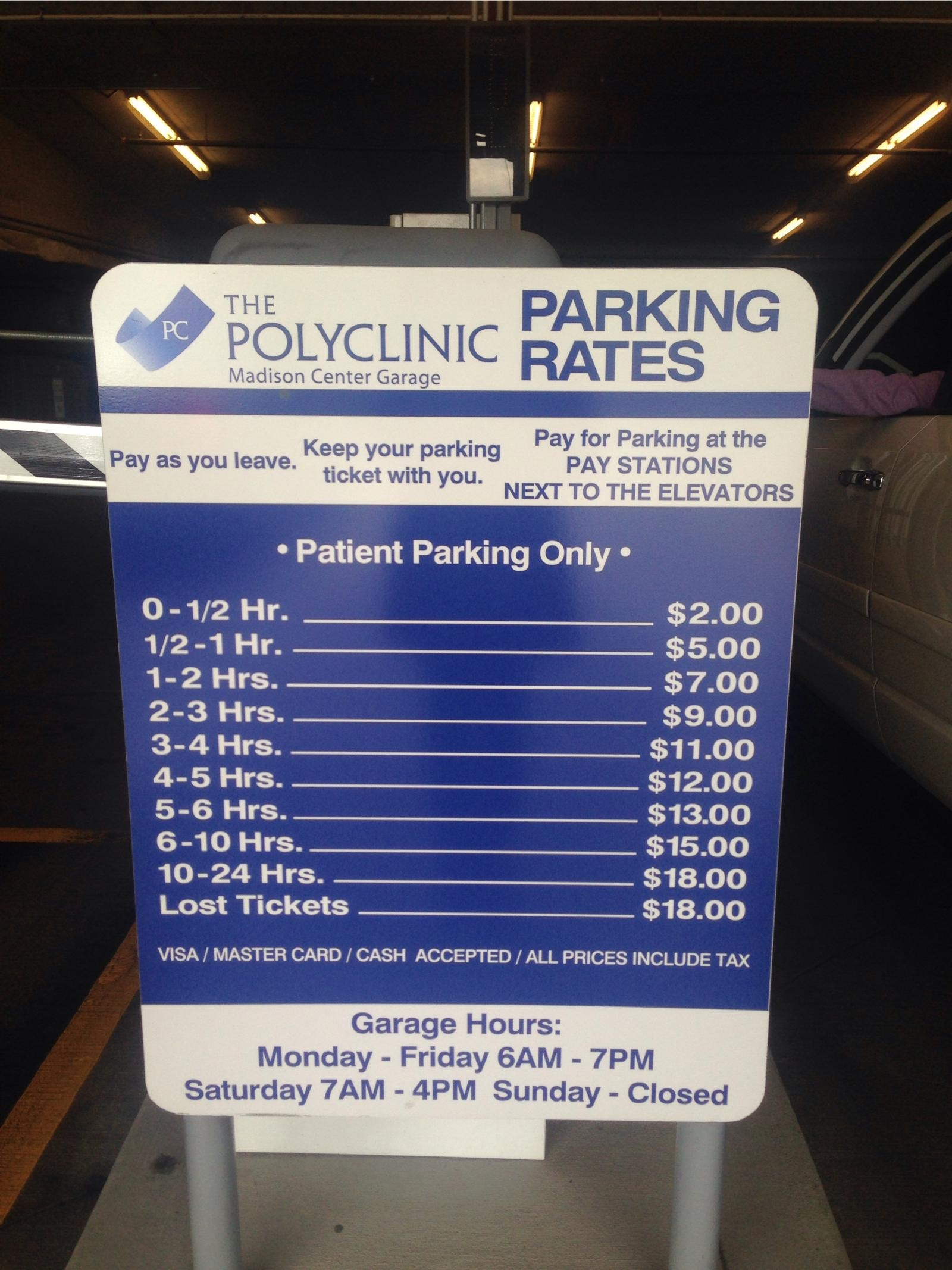 The Polyclinic Madison Center Garage Parking In Seattle