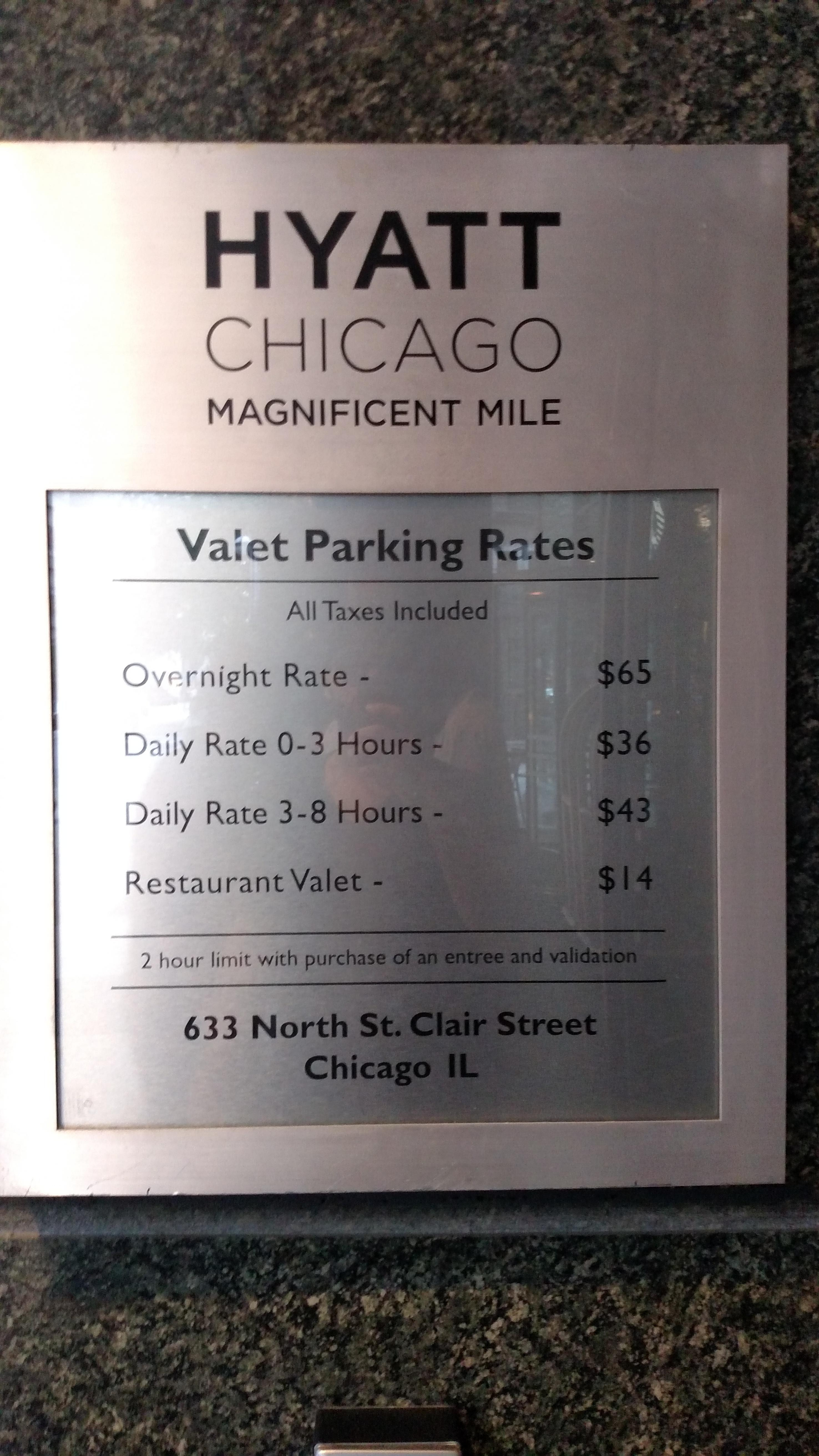 Hyatt Chicago Magnificent Mile Parking In Chicago ParkMe - Chicago map miracle mile