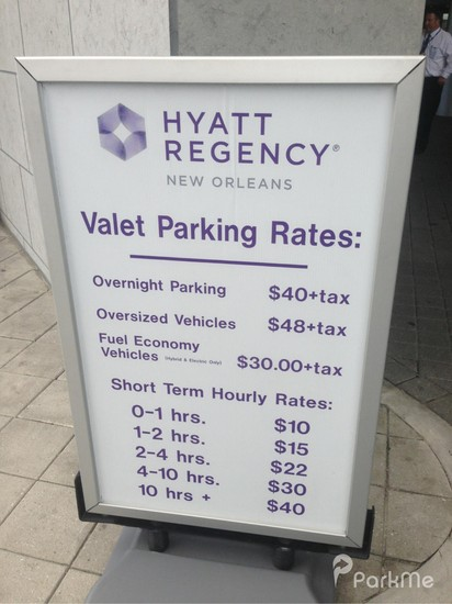 Hyatt Regency New Orleans Map.Hyatt Regency New Orleans Parking In New Orleans Parkme