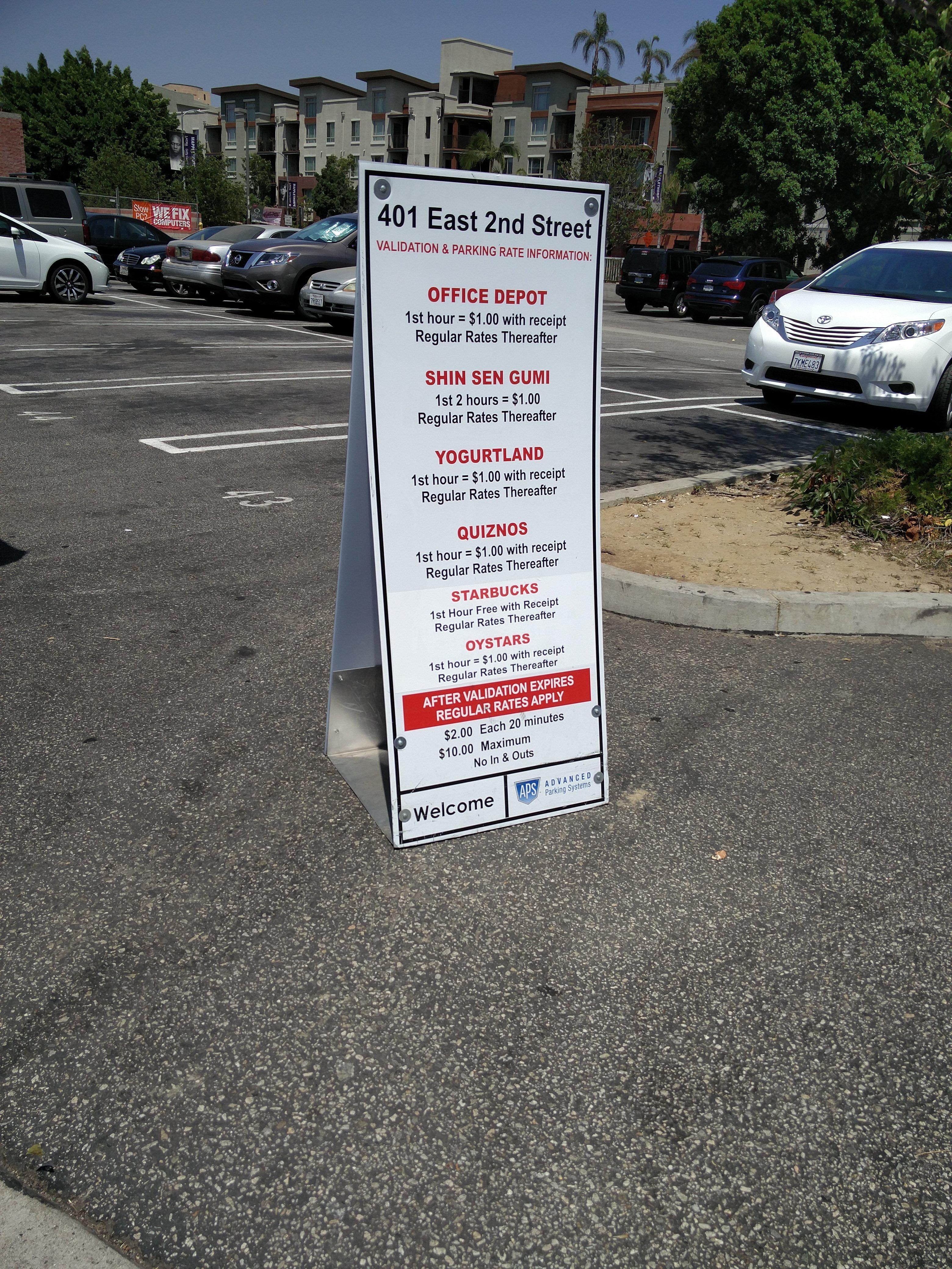 fice Depot Lot Parking in Los Angeles