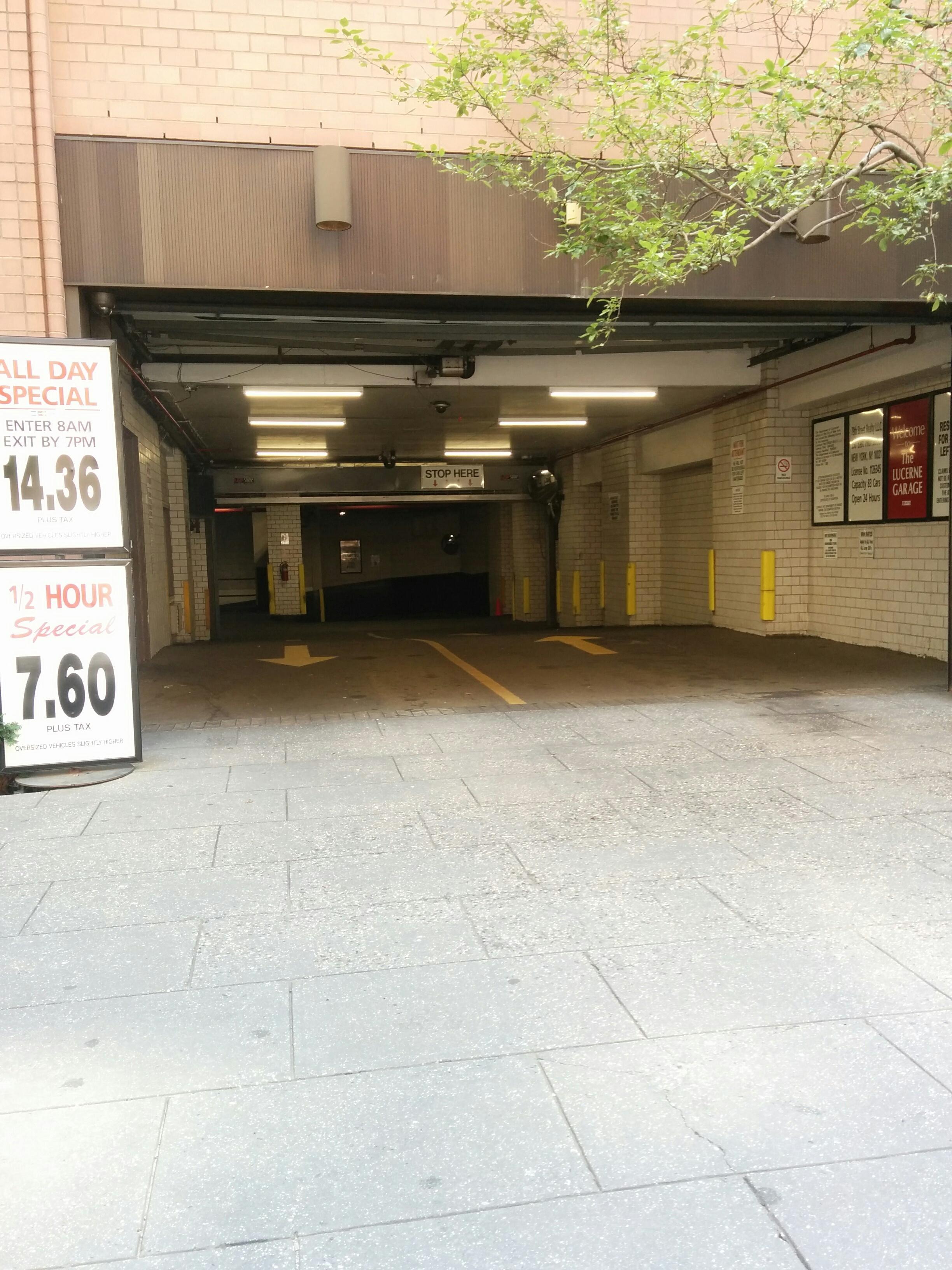 Lucerne garage parking in new york parkme for New york parking garage