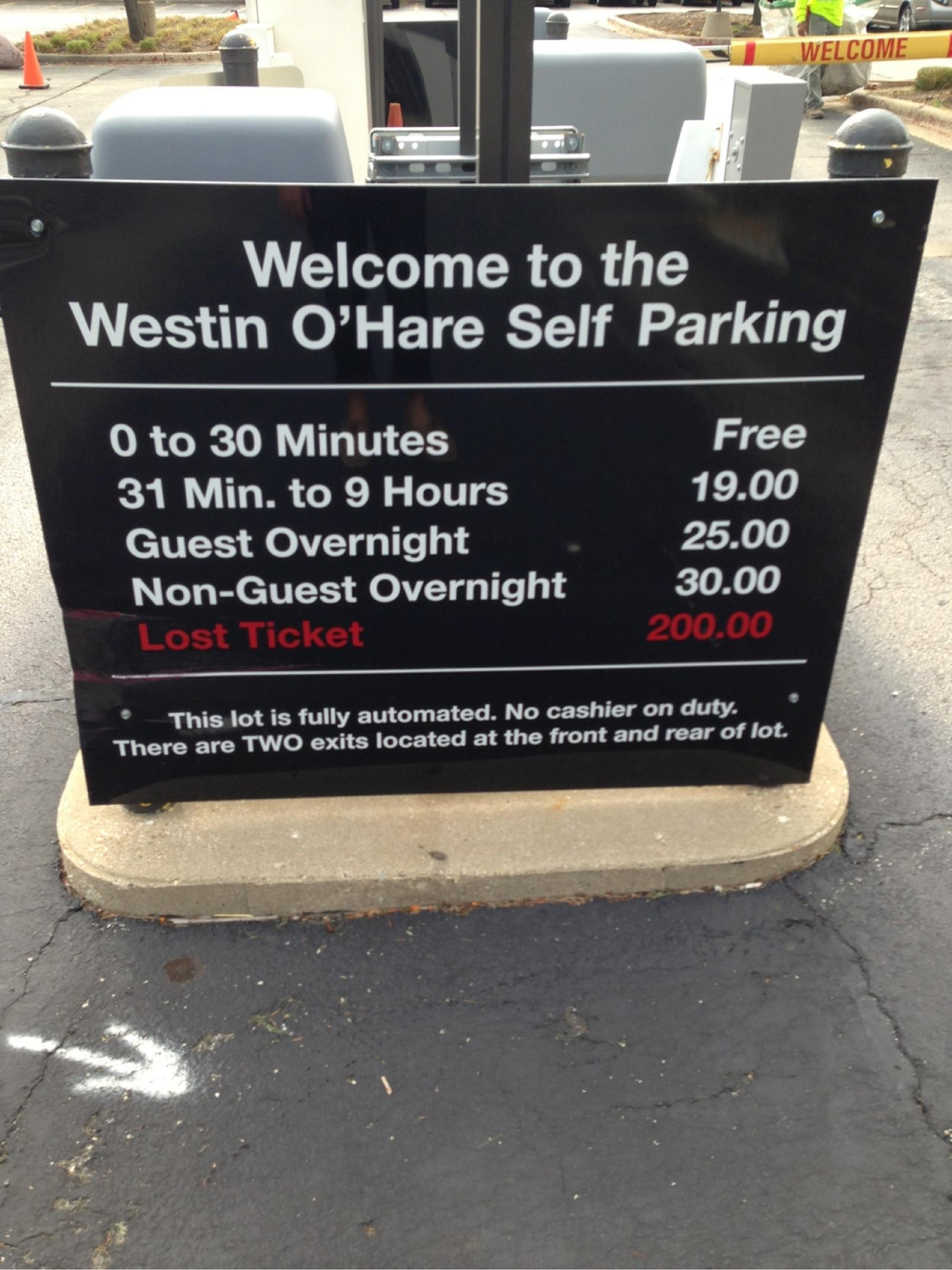 Ohare parking chicago ohare long term parking rates for Short term parking at lax