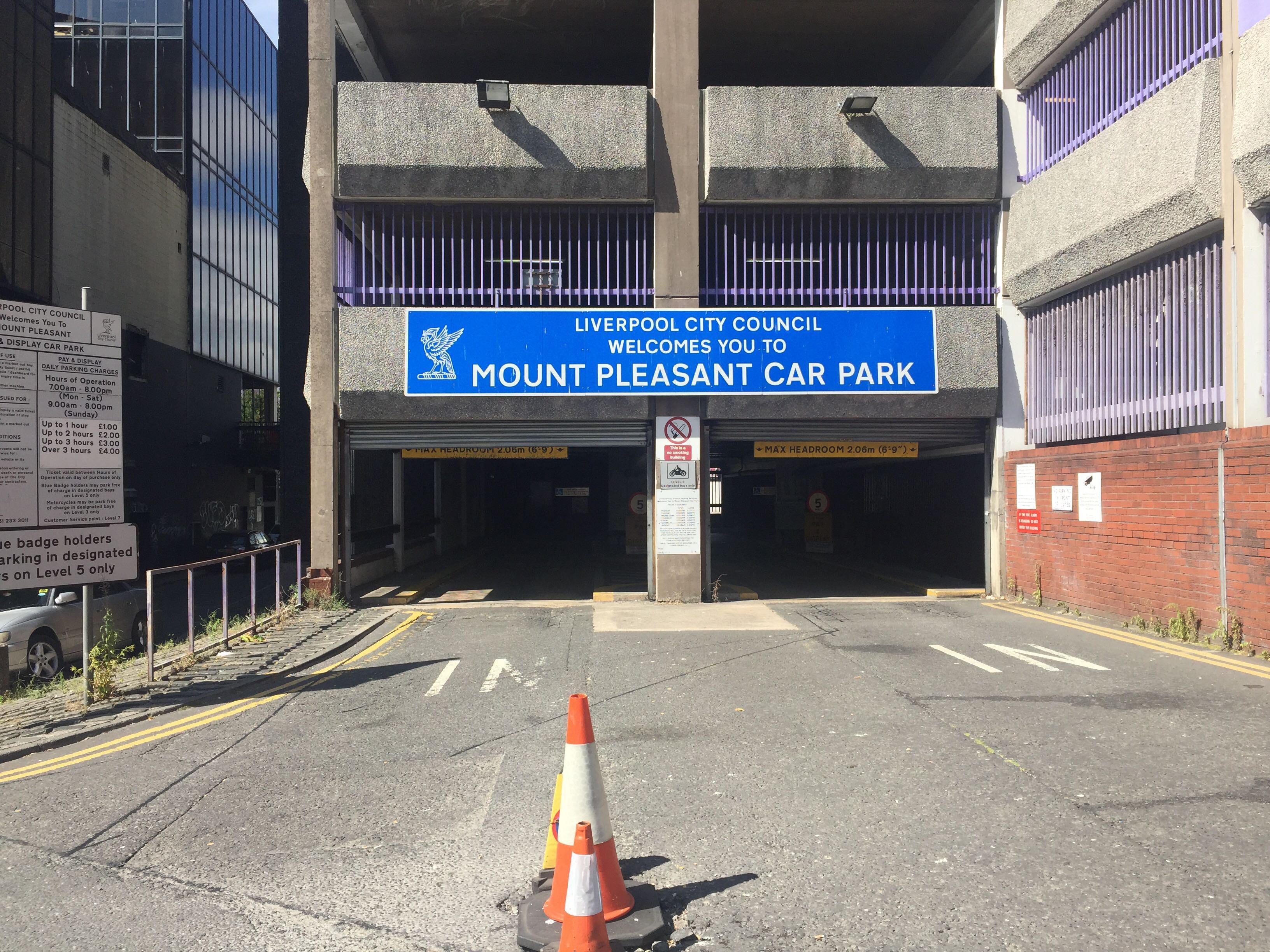 Mount Pleasant Car Park Parking In Liverpool Parkme