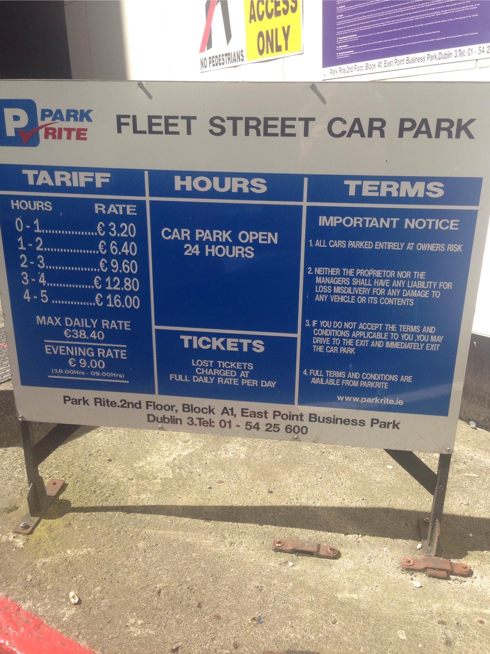 Fleet Street Car Park Dublin