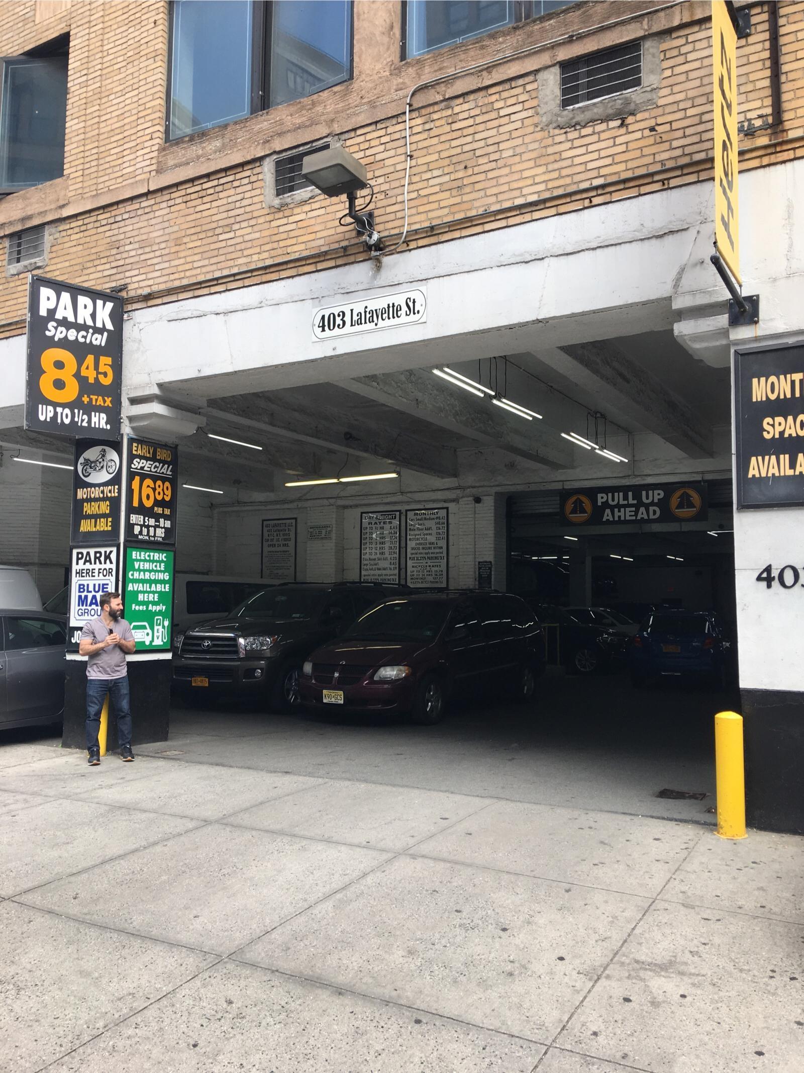 403 lafayette st garage parking in new york parkme for New york parking garage