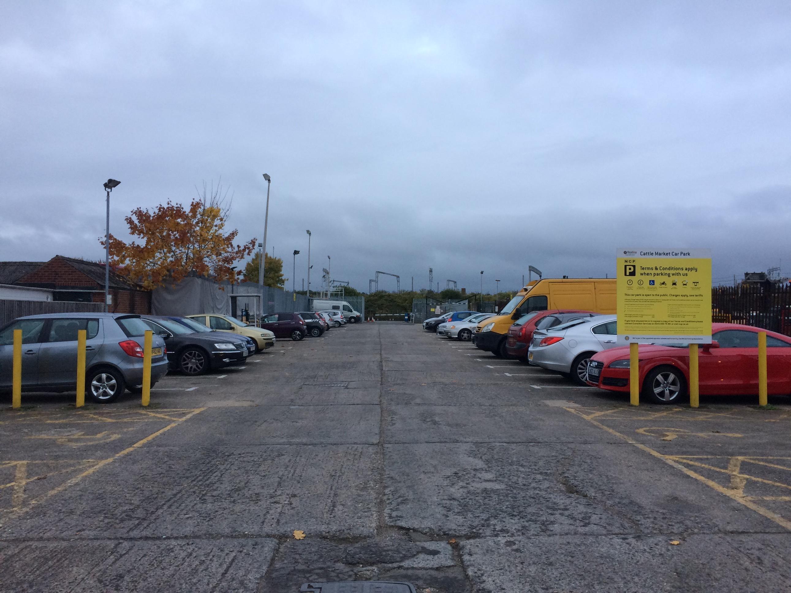 Cattle Market Parking In Reading ParkMe - Us open parking lot map
