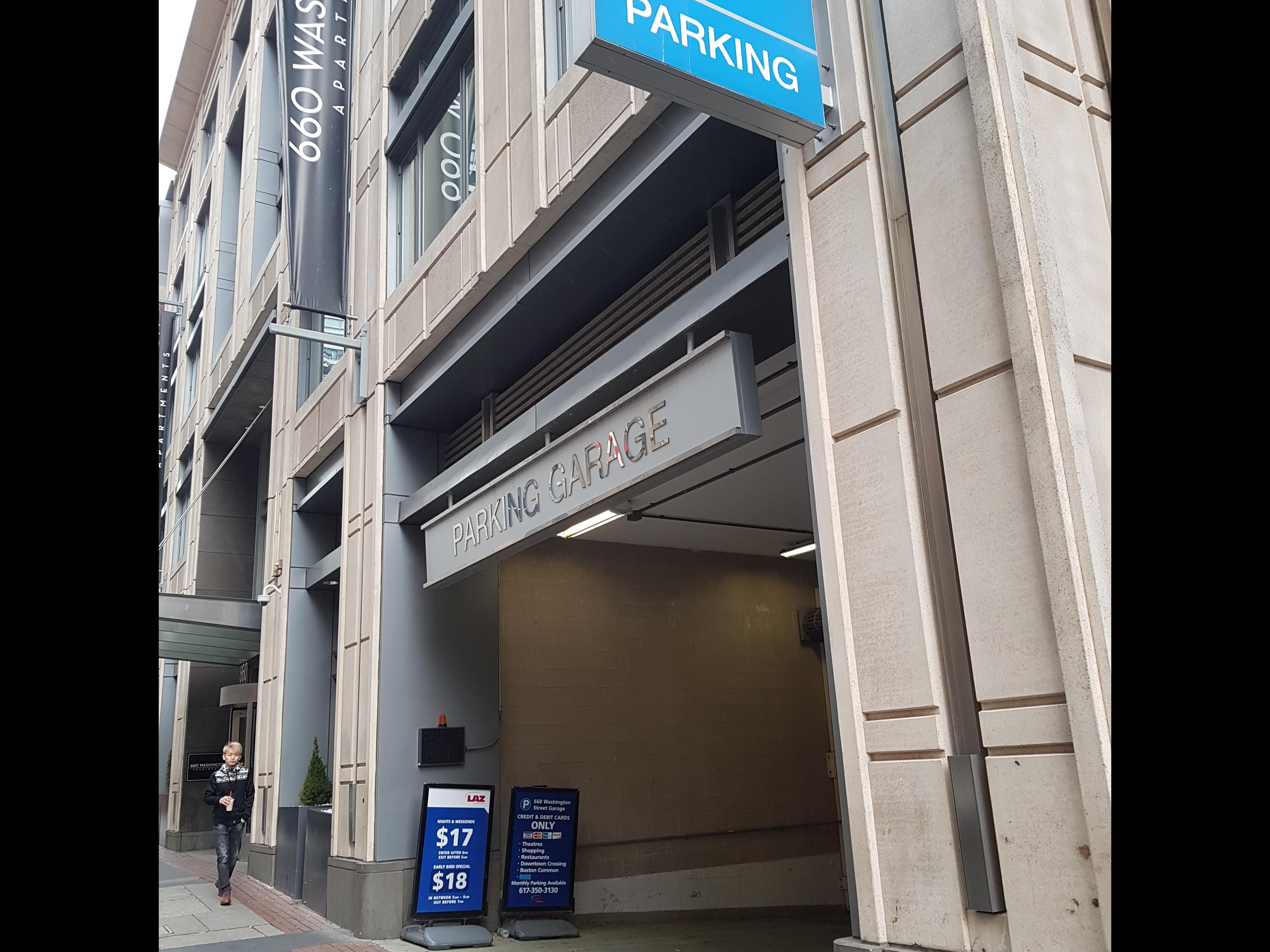 660 Washington Street Garage Parking