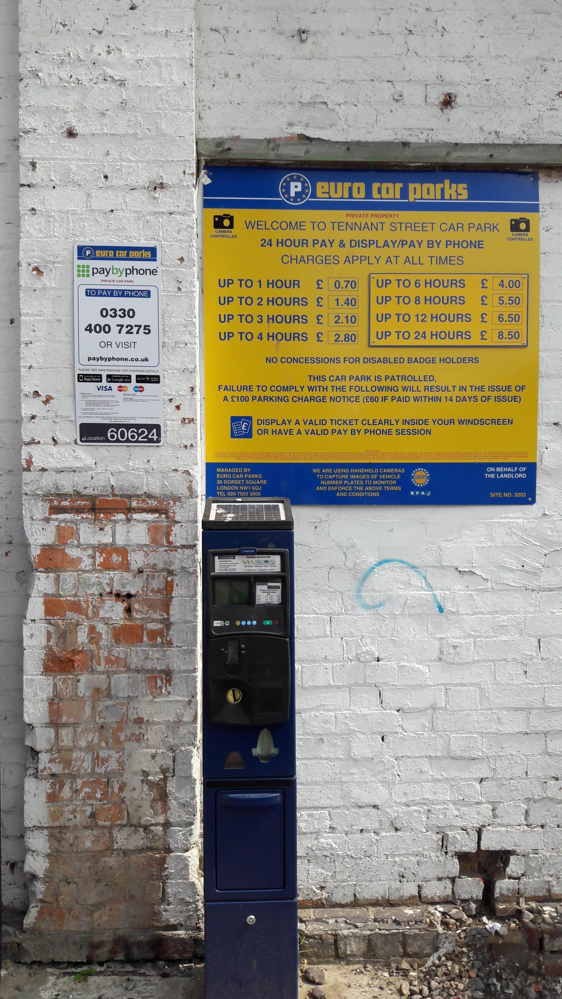 Tennant Street Car Park Parking In Birmingham Parkme