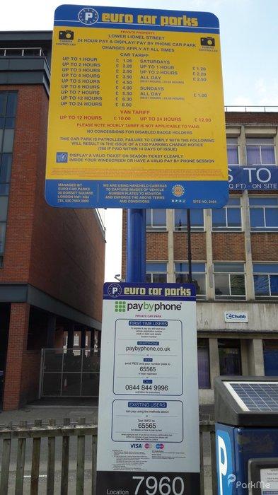 Lower Lionel Street Car Park Parking In Birmingham Parkme