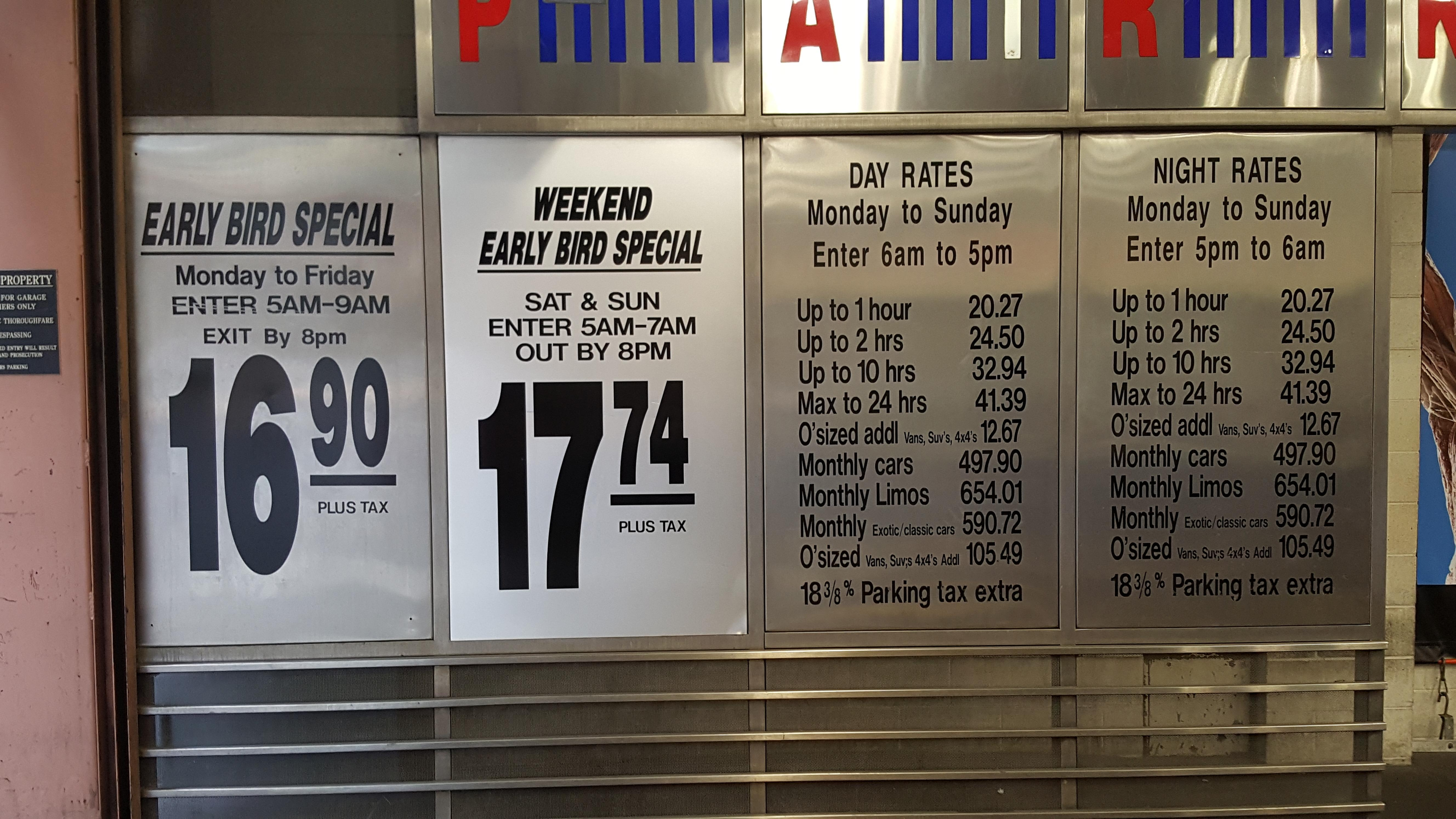 Nyc parking coupons times square