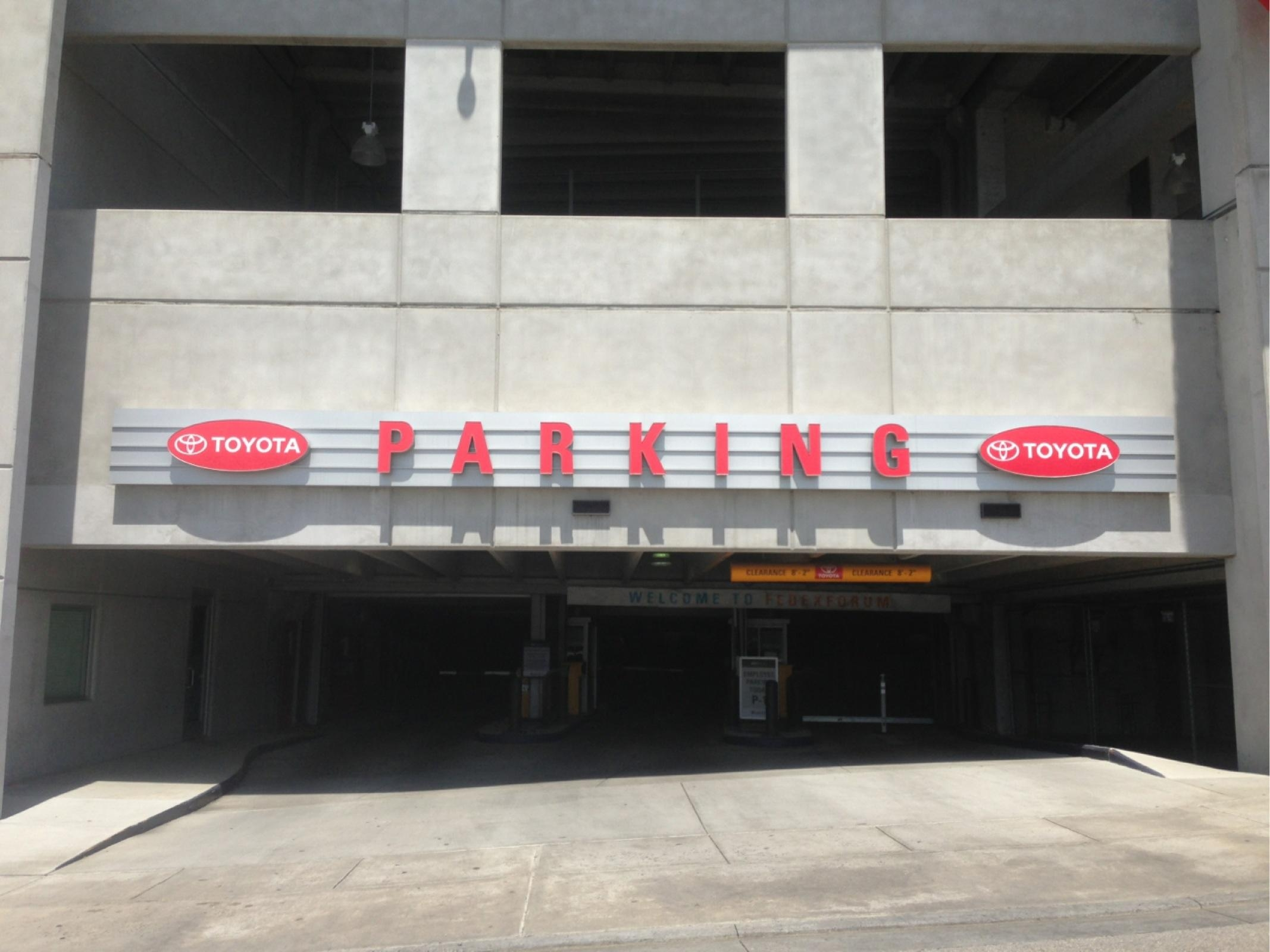 Toyota Parking Garage Parking In Memphis Parkme