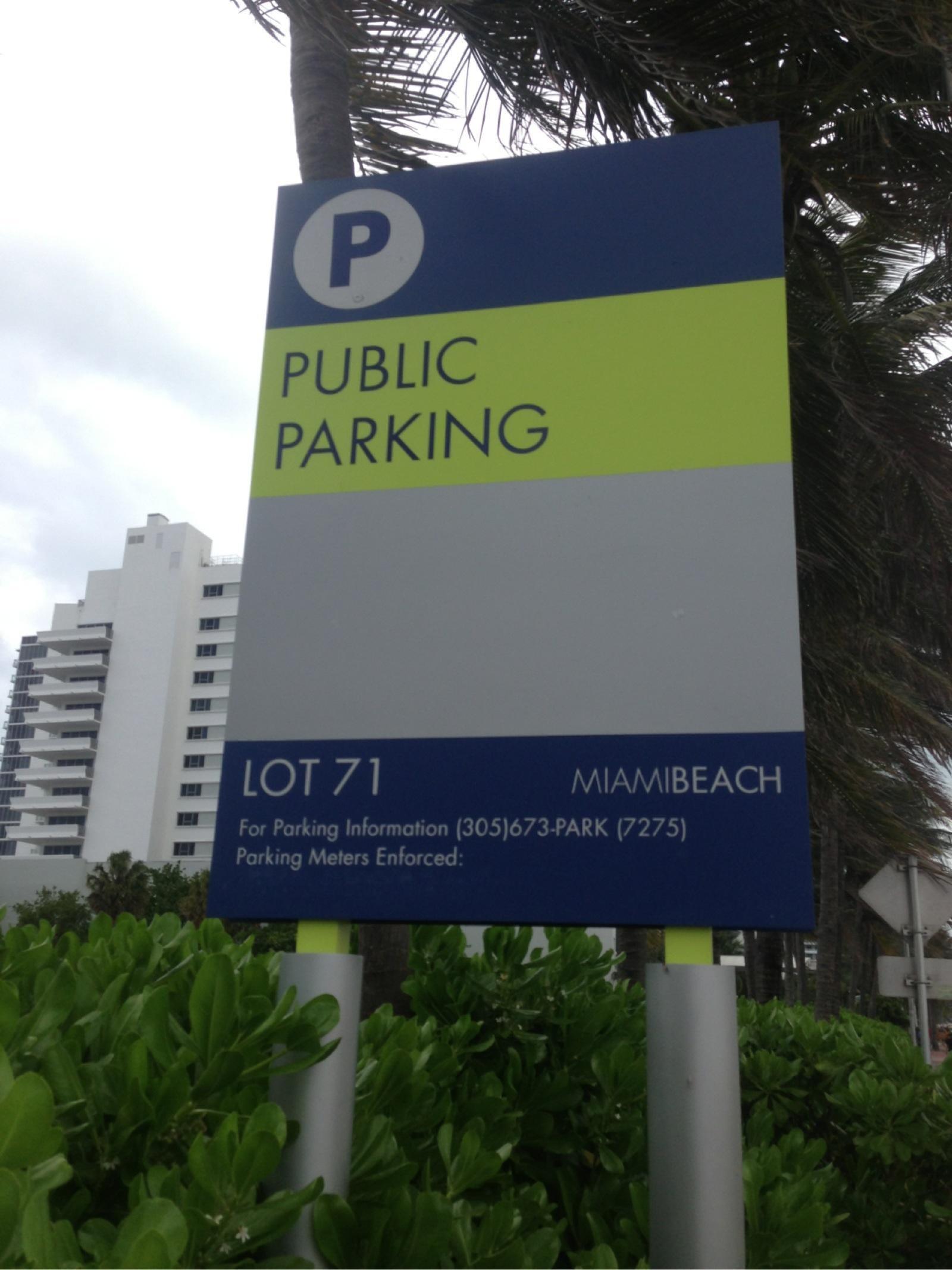 lot p71 - parking in miami beach   parkme