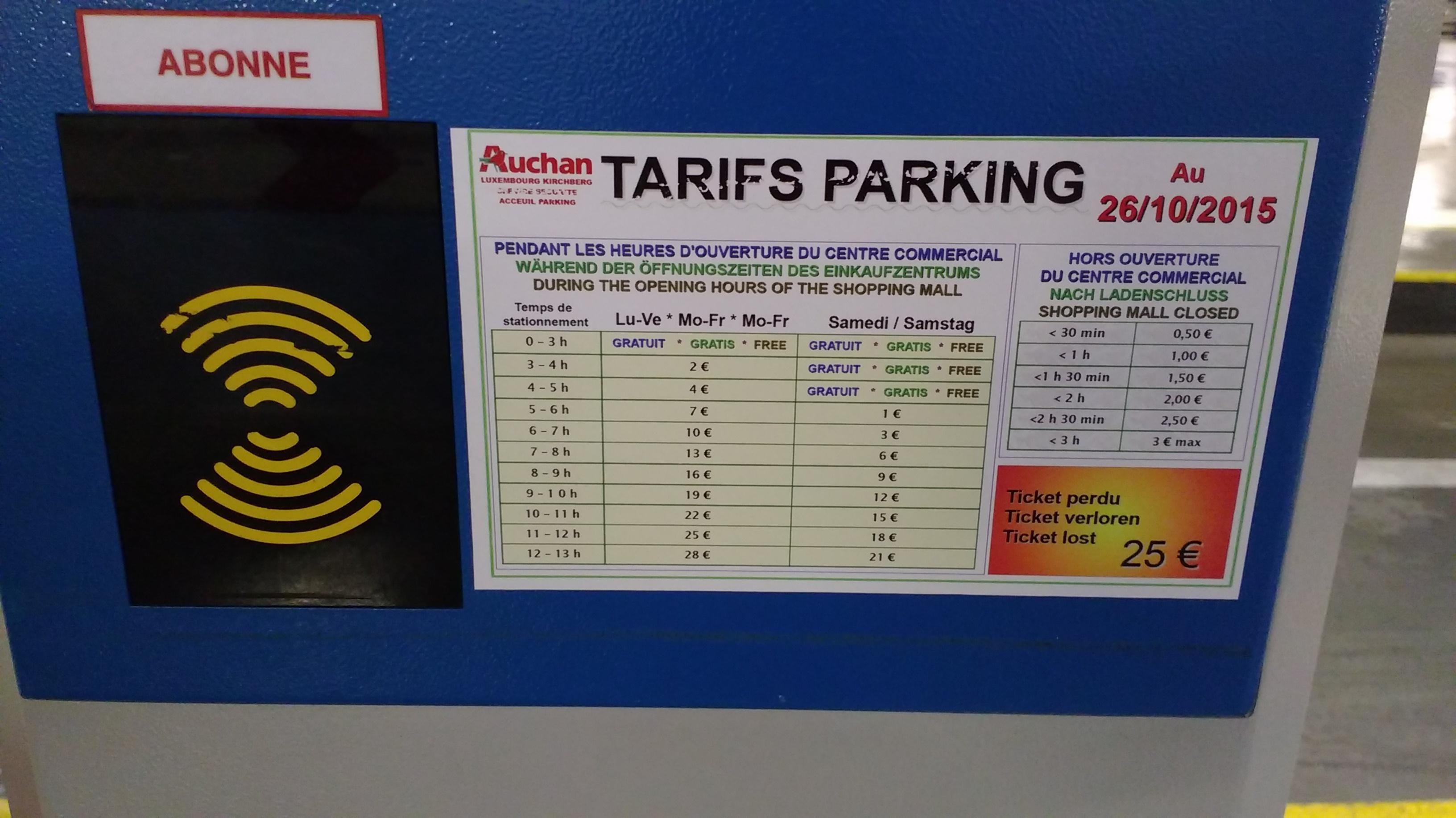 Carte Auchan Kirchberg.Auchan Kirchberg Parking In Luxembourg Parkme