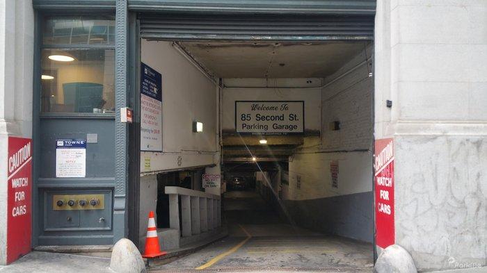 85 second st parking garage parking in san francisco. Black Bedroom Furniture Sets. Home Design Ideas