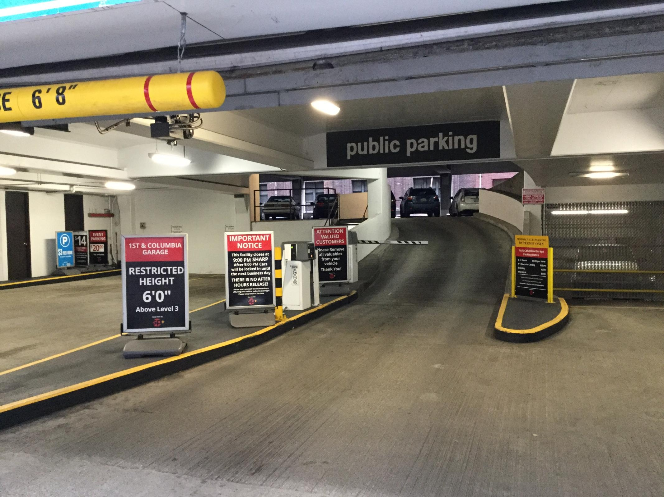 1st columbia garage parking in seattle parkme