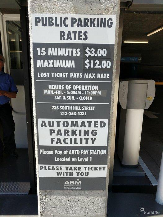 Wells Fargo Center Parking Structure Parking