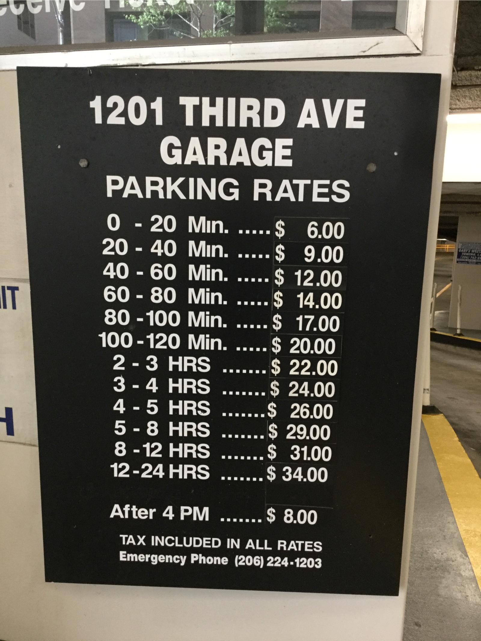 1201 Third Avenue Garage Parking In Seattle Parkme