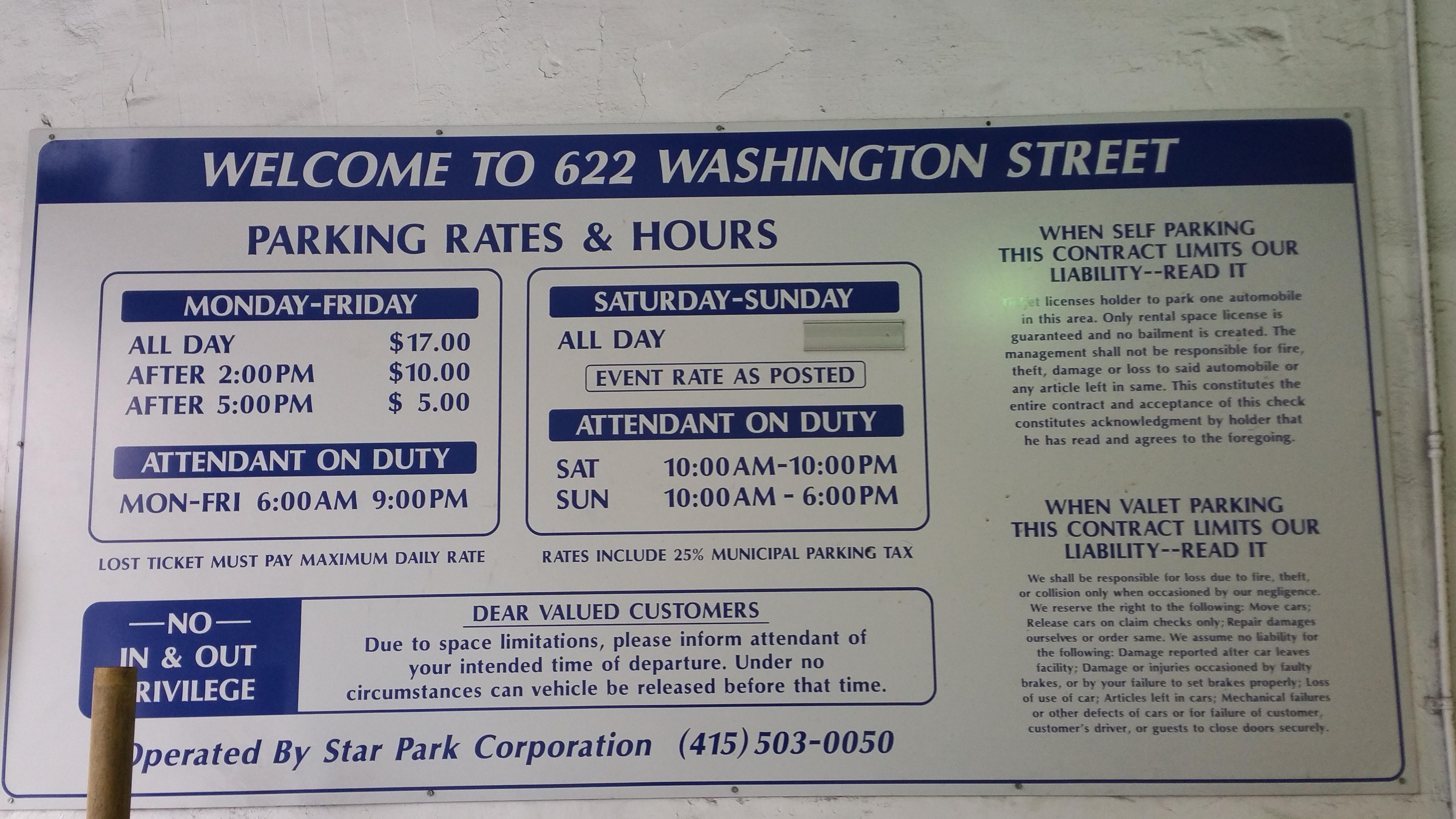 622 Washington St Garage Parking In San Francisco Parkme