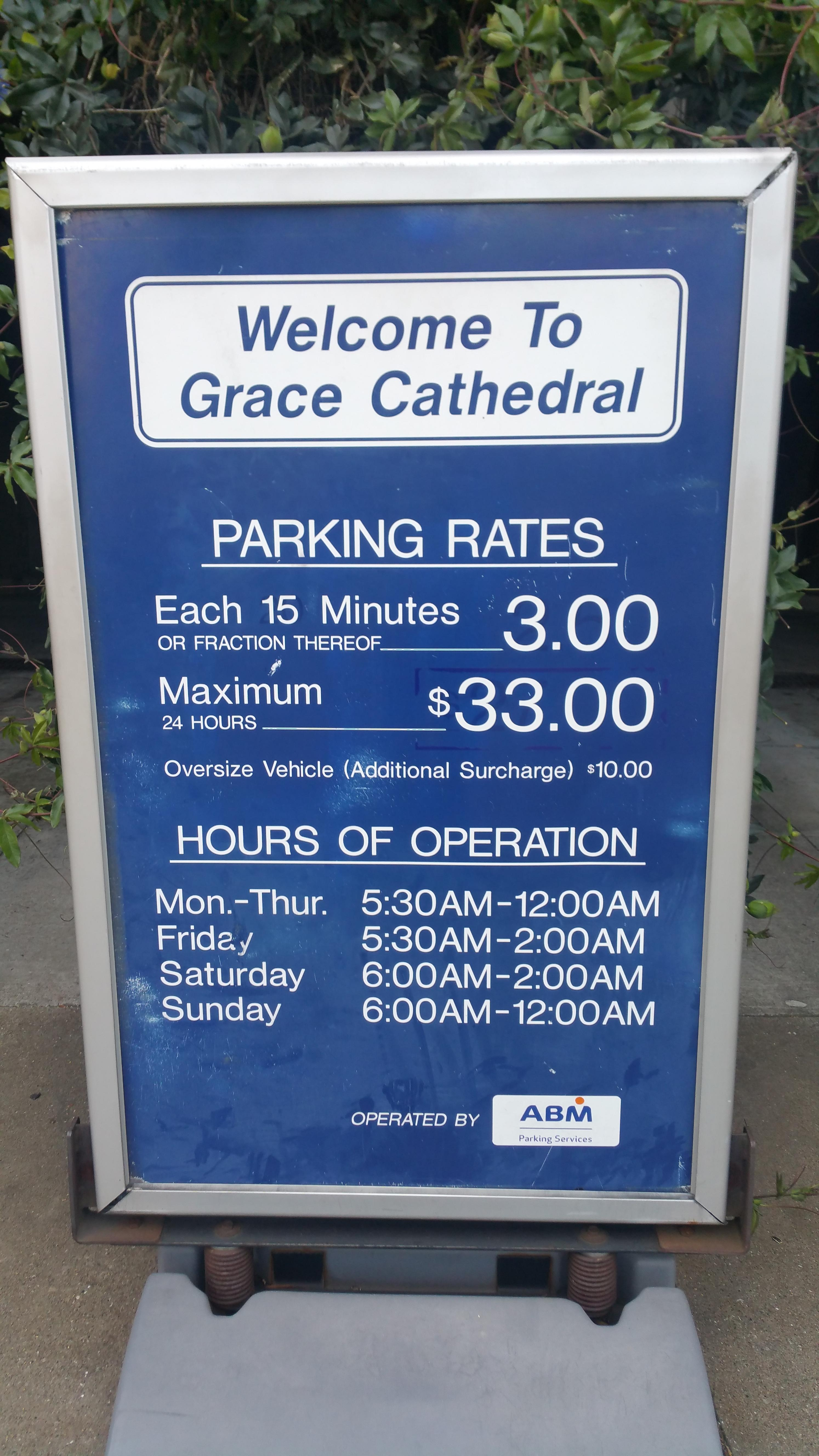 Grace Cathedral - Parking in San Francisco | ParkMe