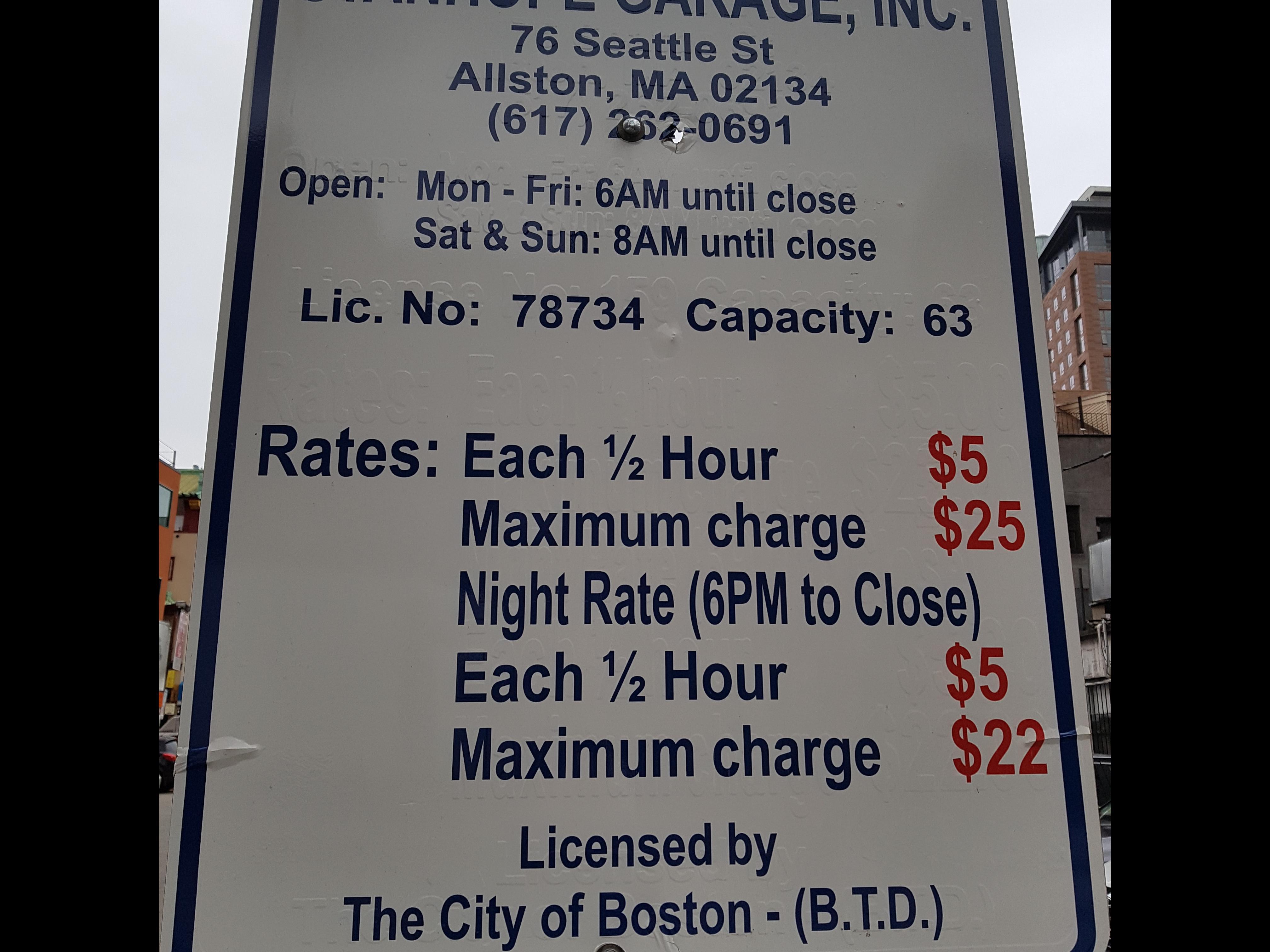 84 Harrison Ave Parking - Parking in Boston | ParkMe