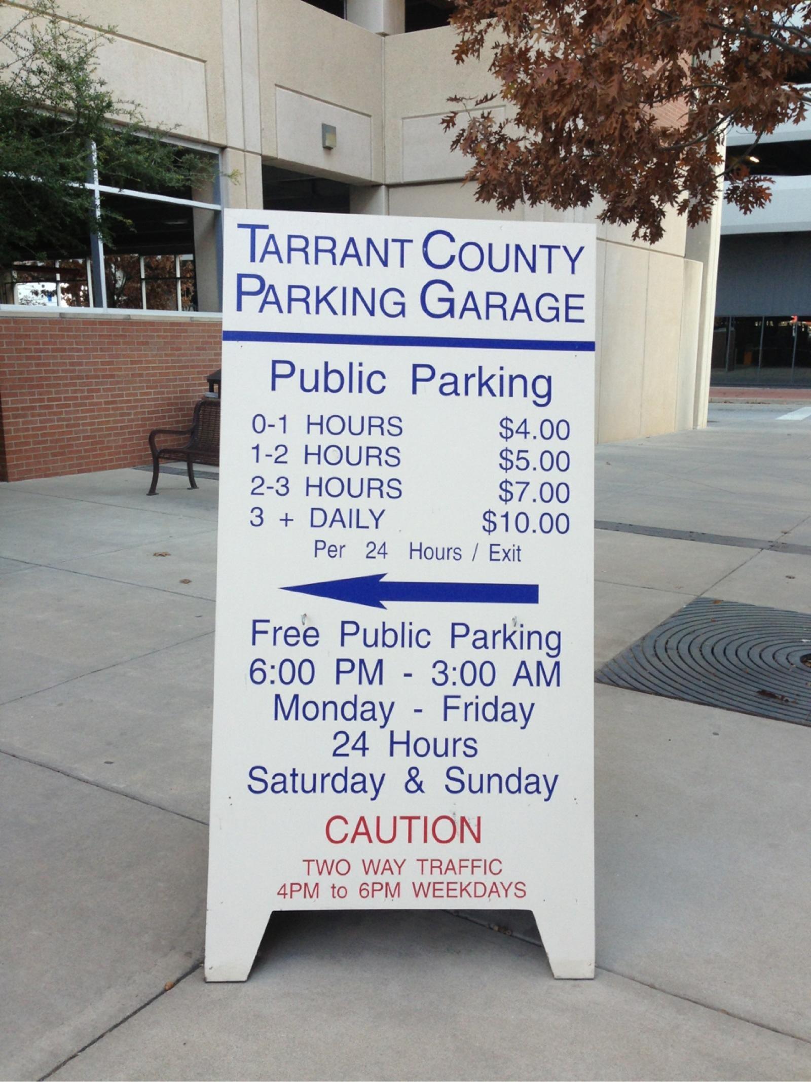 Tarrant County Parking Garage - Parking in Fort Worth | ParkMe