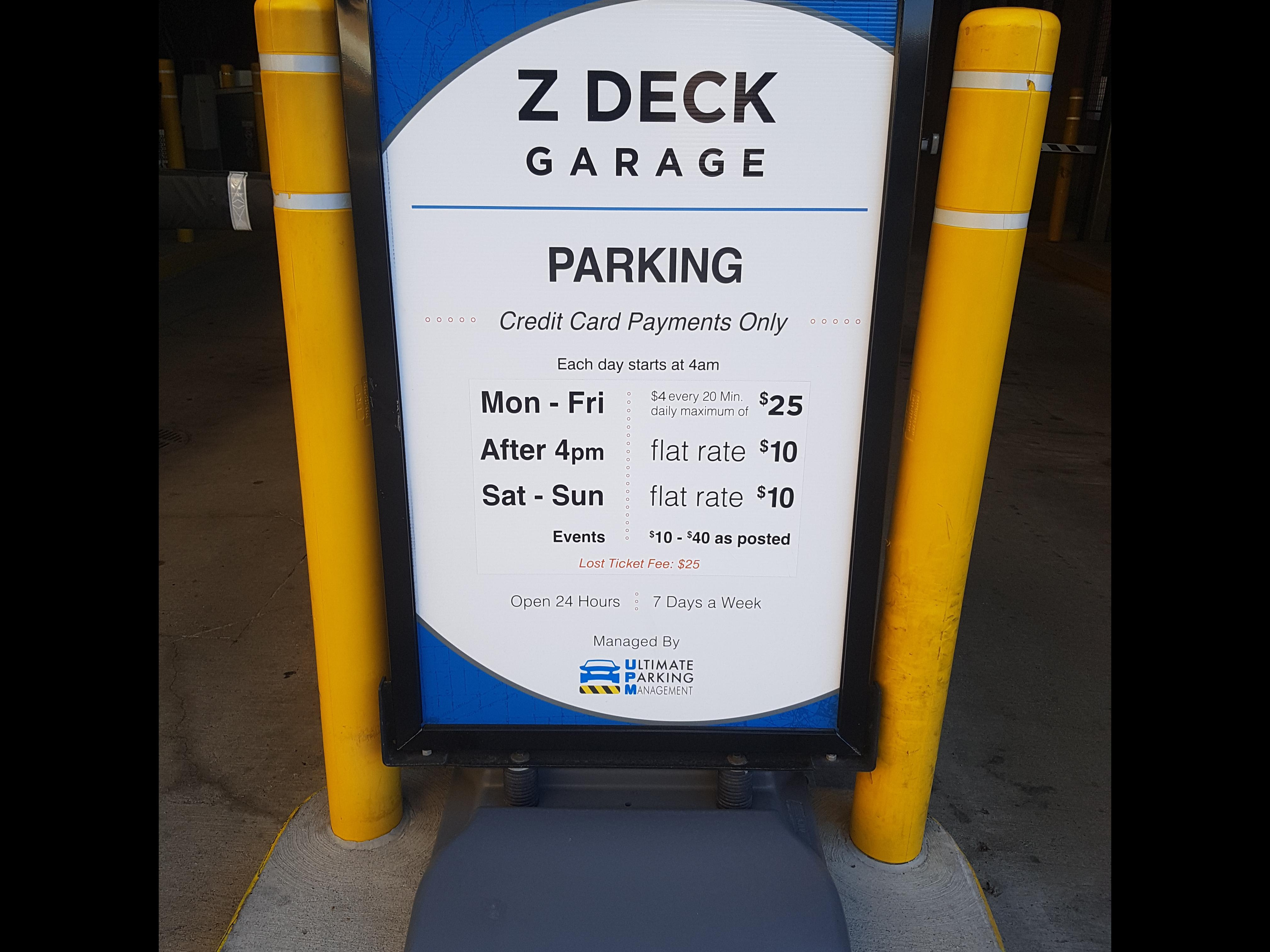 The Z Deck   Parking In Detroit | ParkMe
