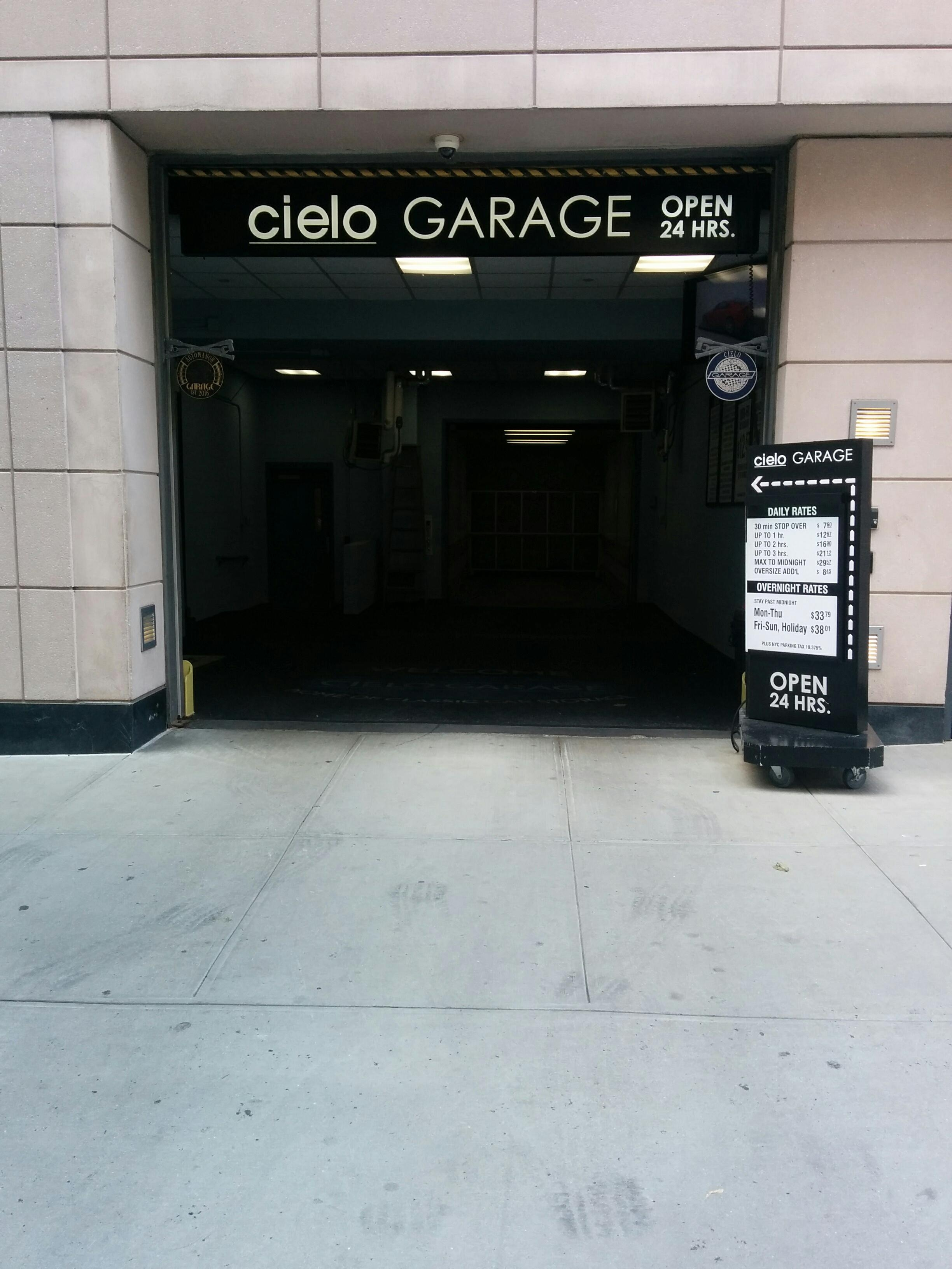 Cielo garage parking in new york parkme for New york parking garage