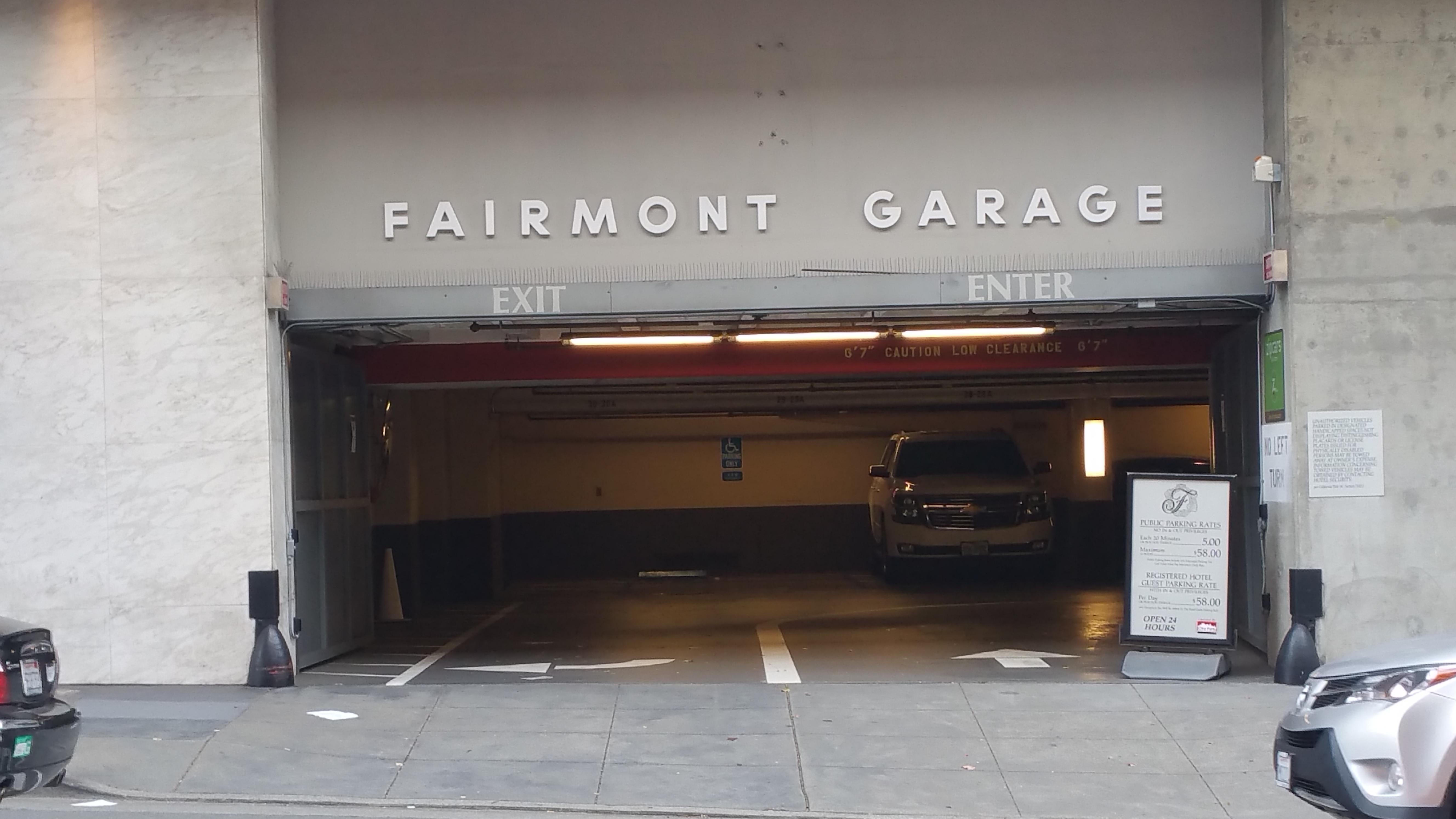 Fairmont Garage Lot 350 Parking In San Francisco Parkme