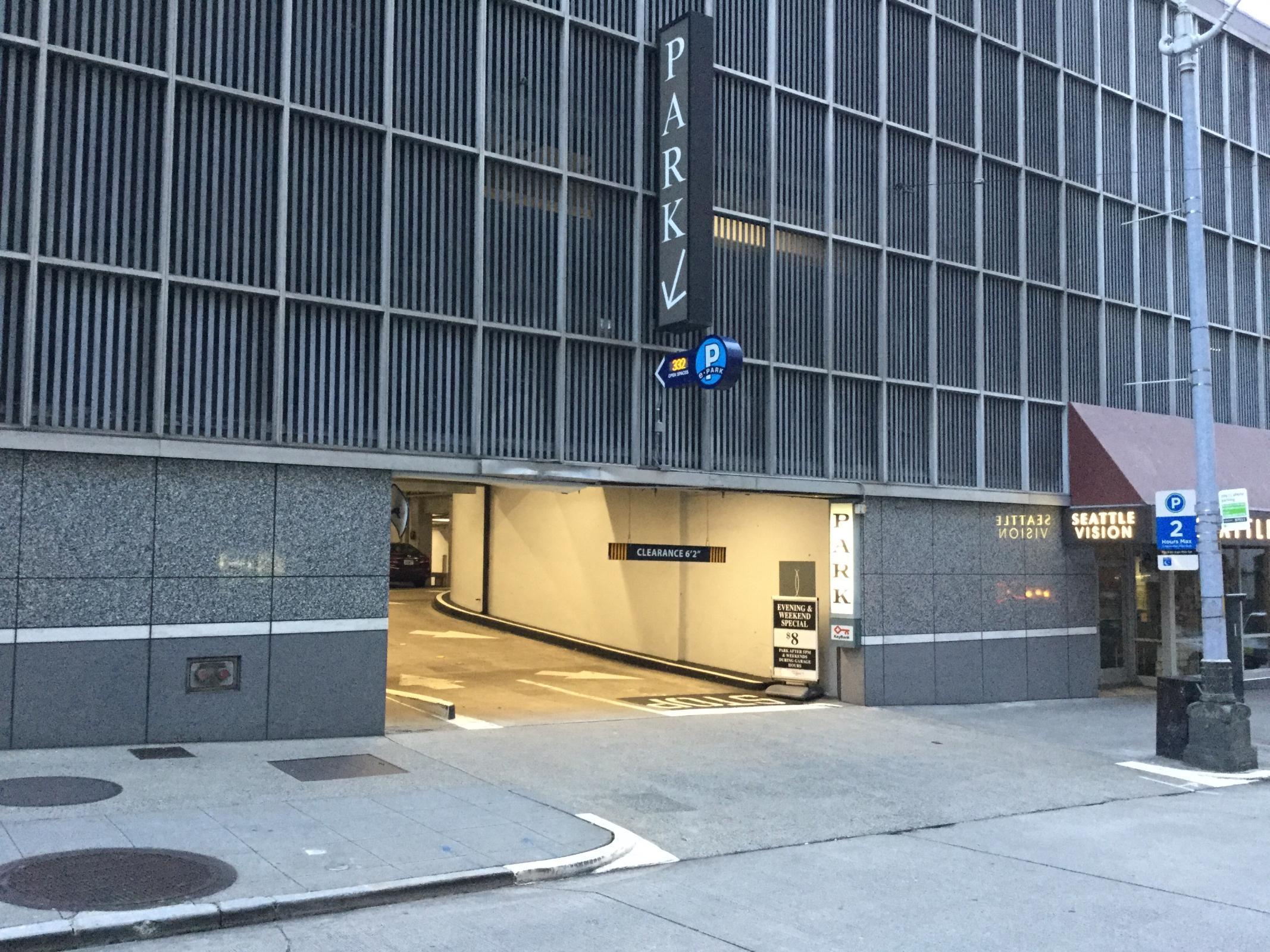 To Garage: Puget Sound Plaza / Cobb Garage - Parking In Seattle