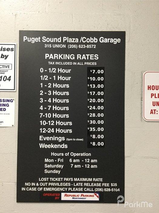 Puget Sound Plaza Cobb Garage Parking In Seattle Parkme