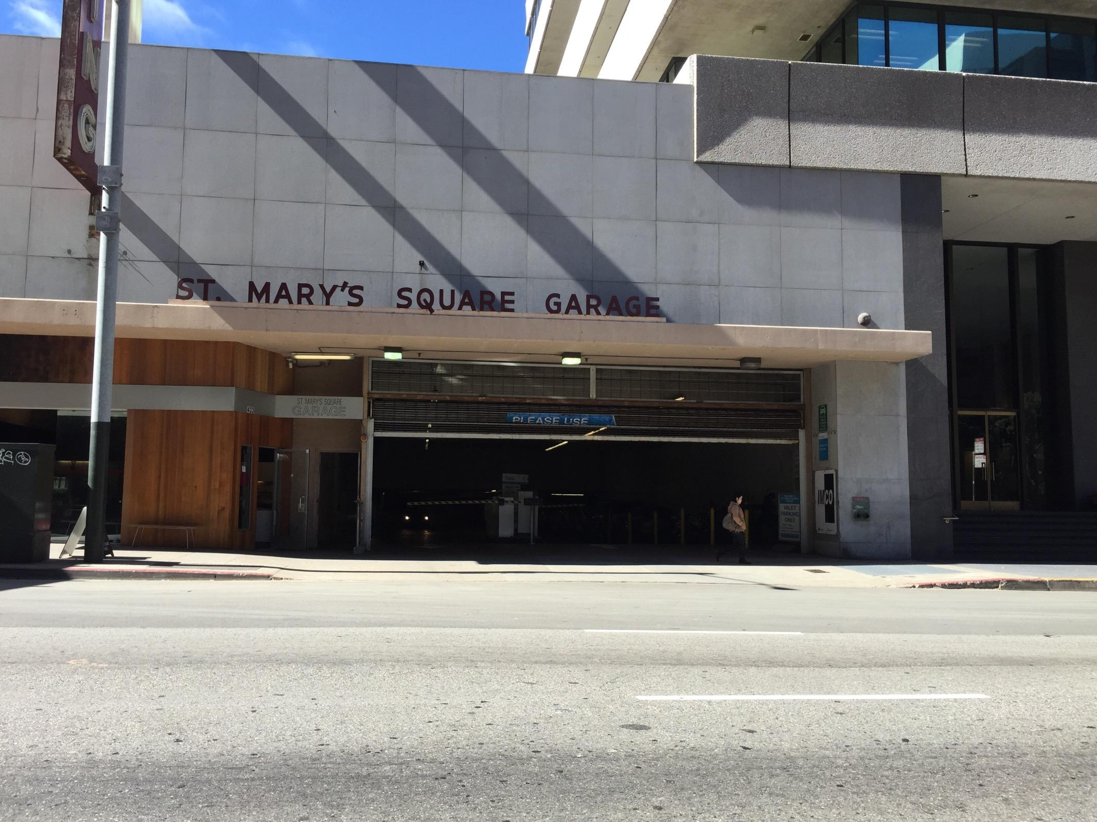 St mary 39 s square garage parking in san francisco parkme for Garage ad st coulomb