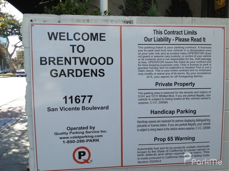 Brentwood Gardens Parking In Los Angeles Parkme