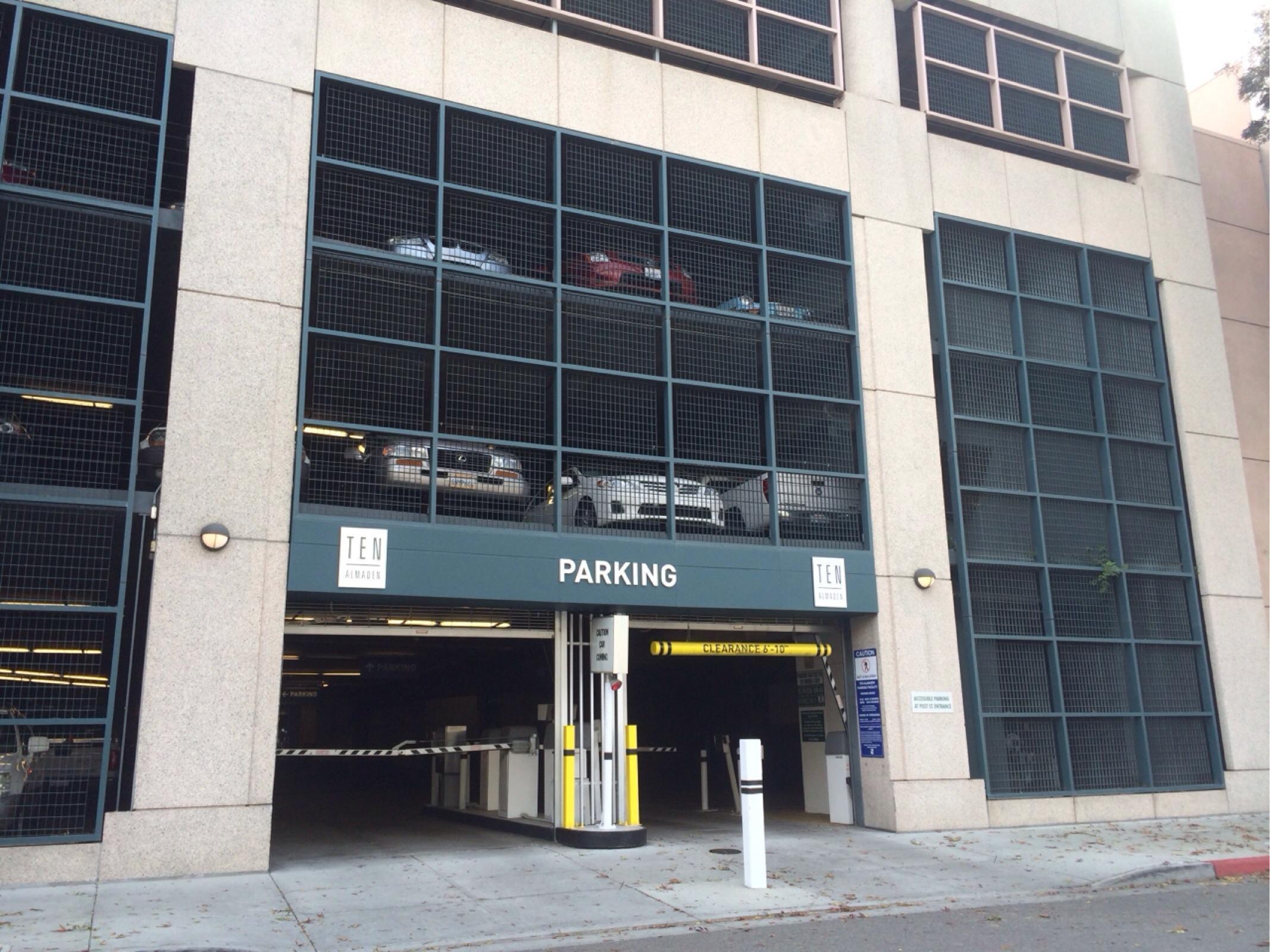 Ten Almaden Parking Facility Parking In San Jose Parkme