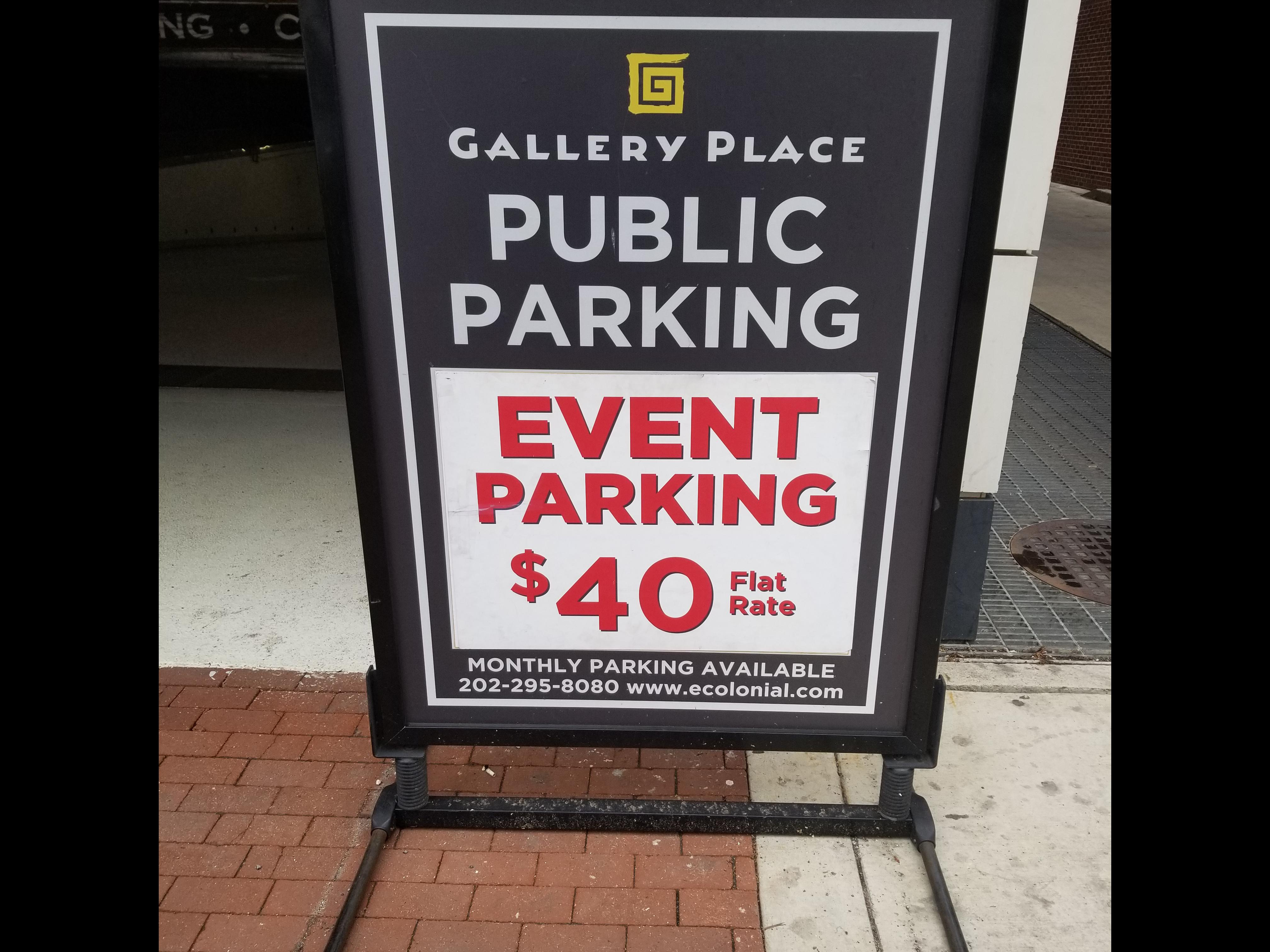 Lot 602 - Gallery Place Parking Parking