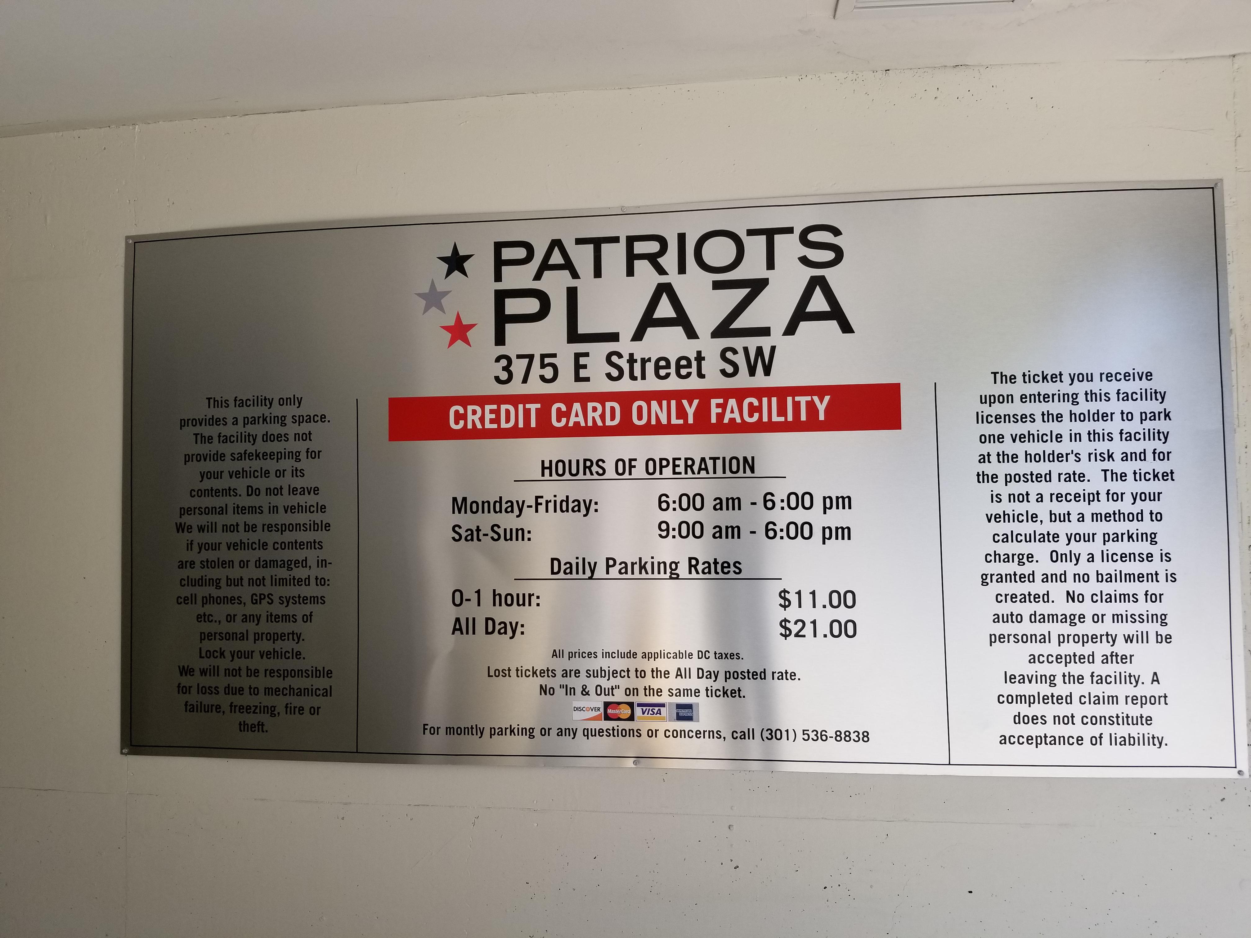 Patriots Plaza - Parking in Washington | ParkMe