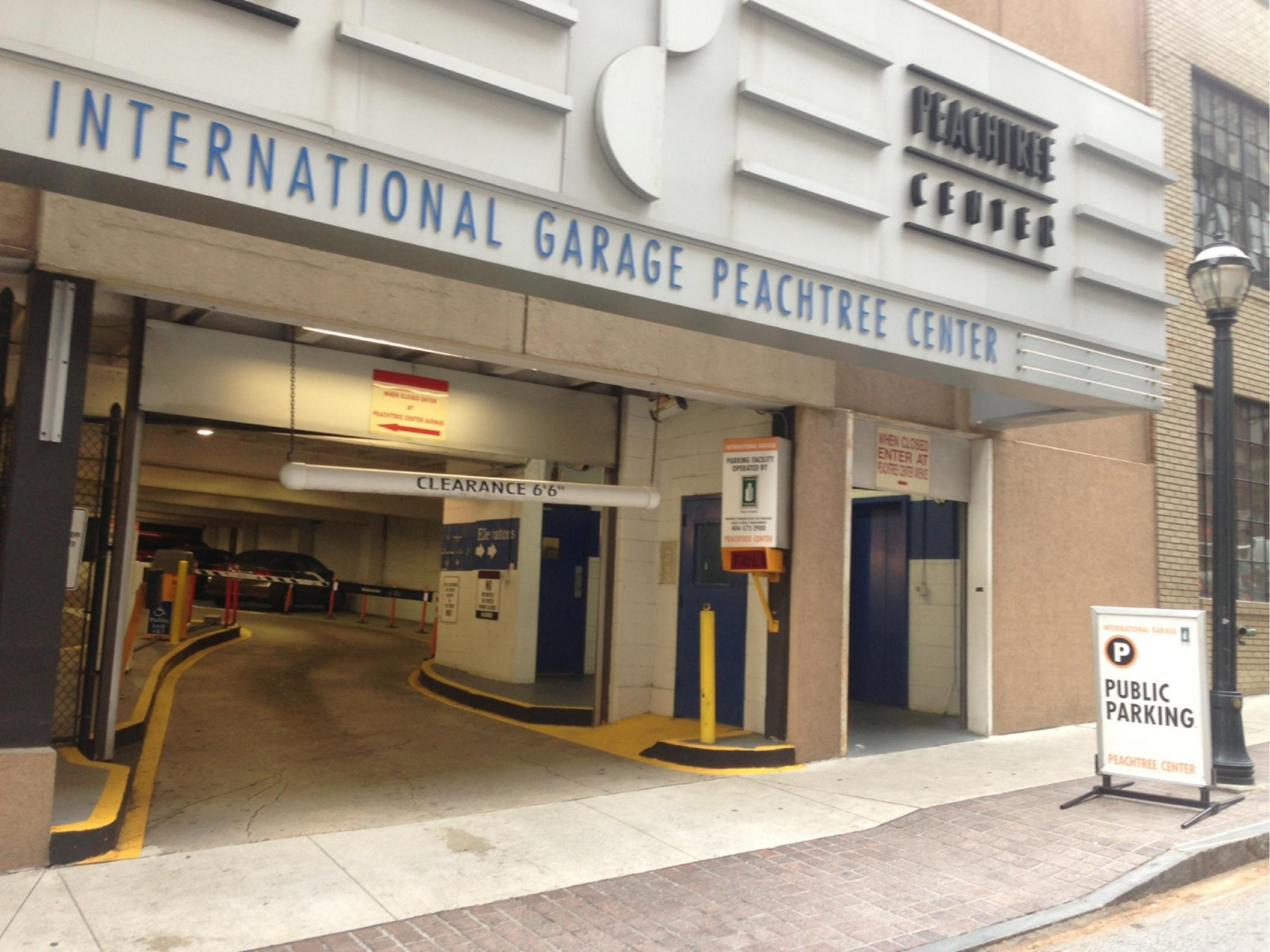 International garage peachtree center parking in atlanta for The peachtree
