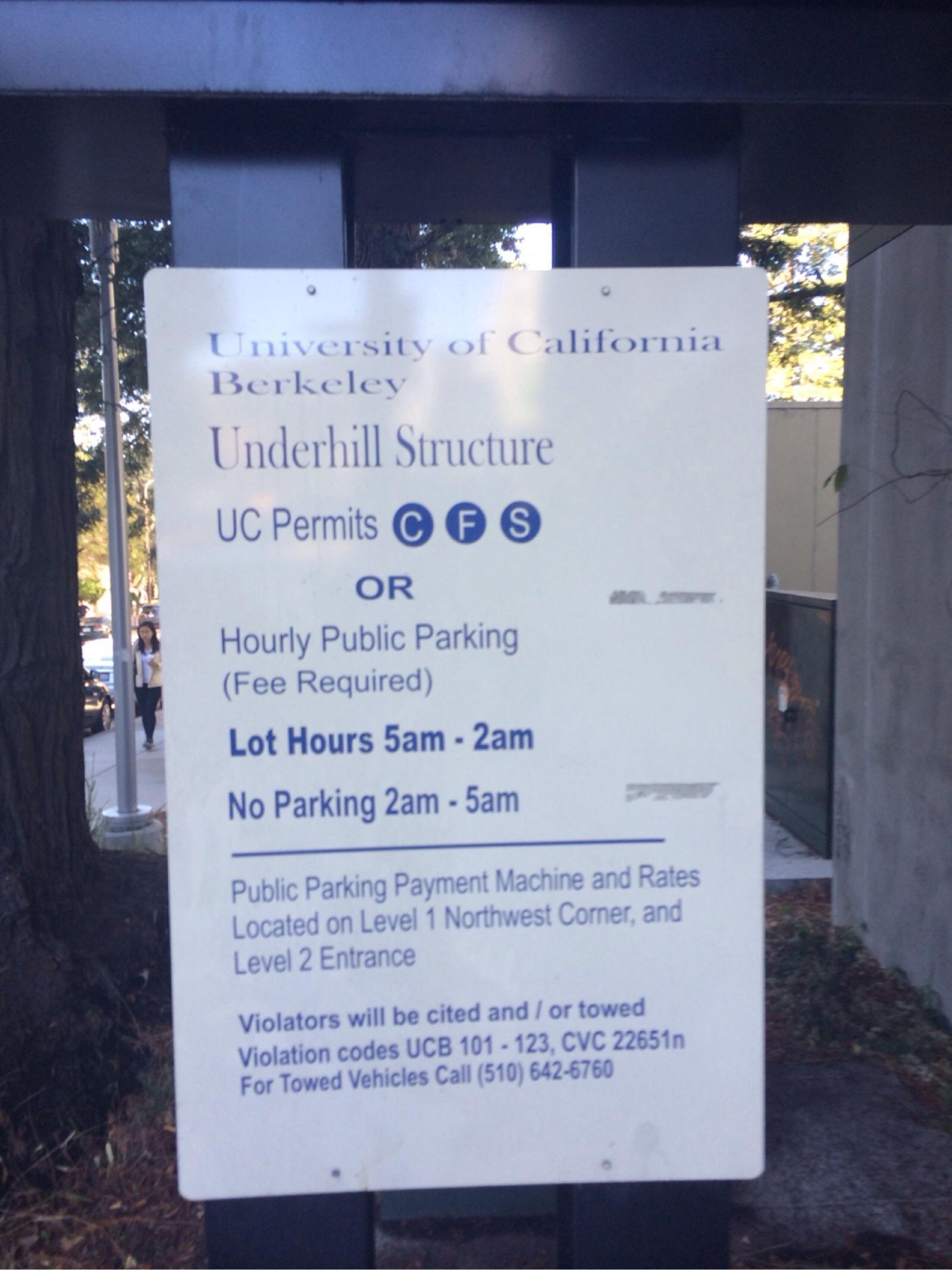 Underhill Parking and Field - Parking in Berkeley | ParkMe