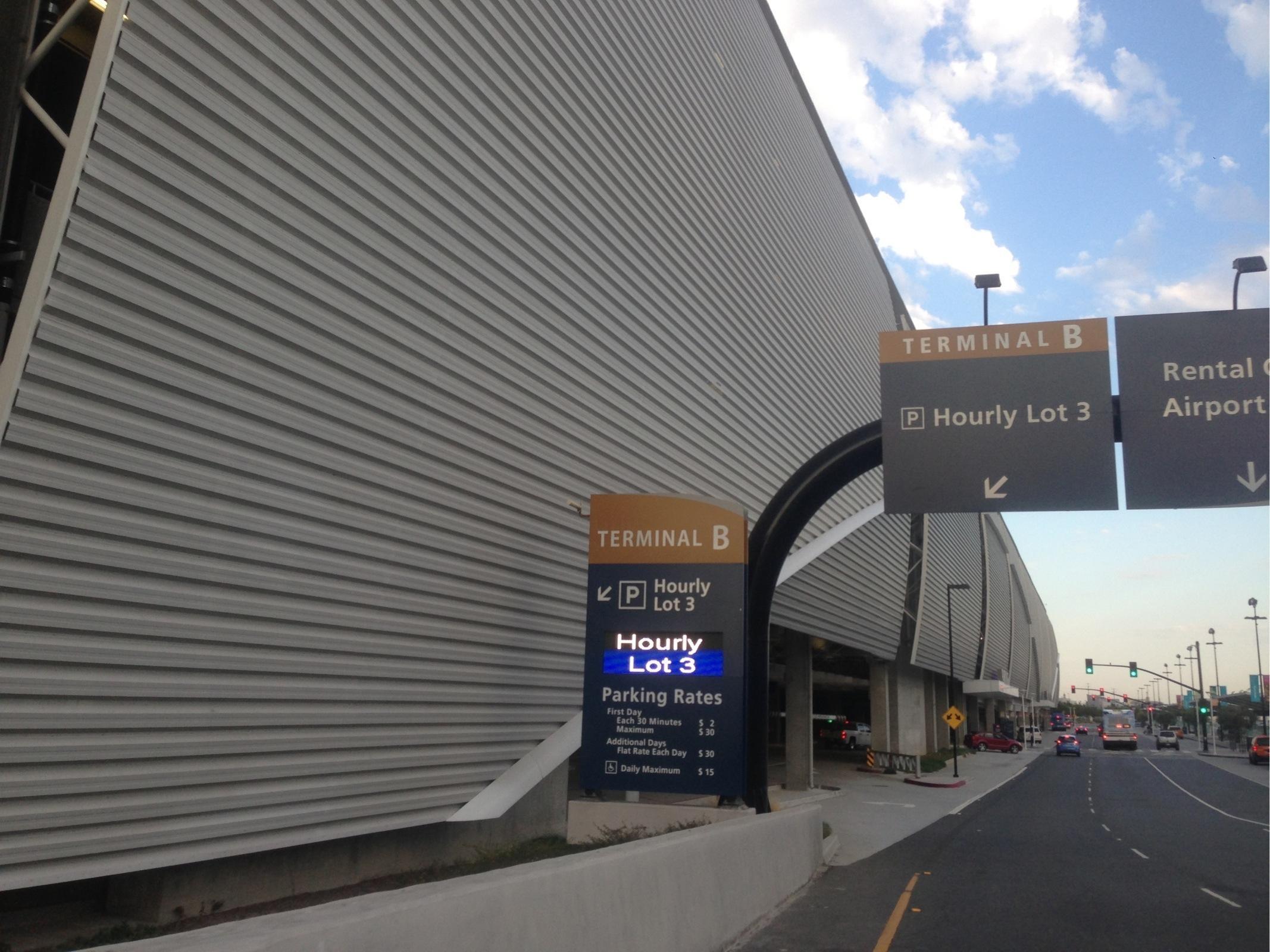 SJC Terminal B Hourly Lot 3 Parking in San Jose ParkMe